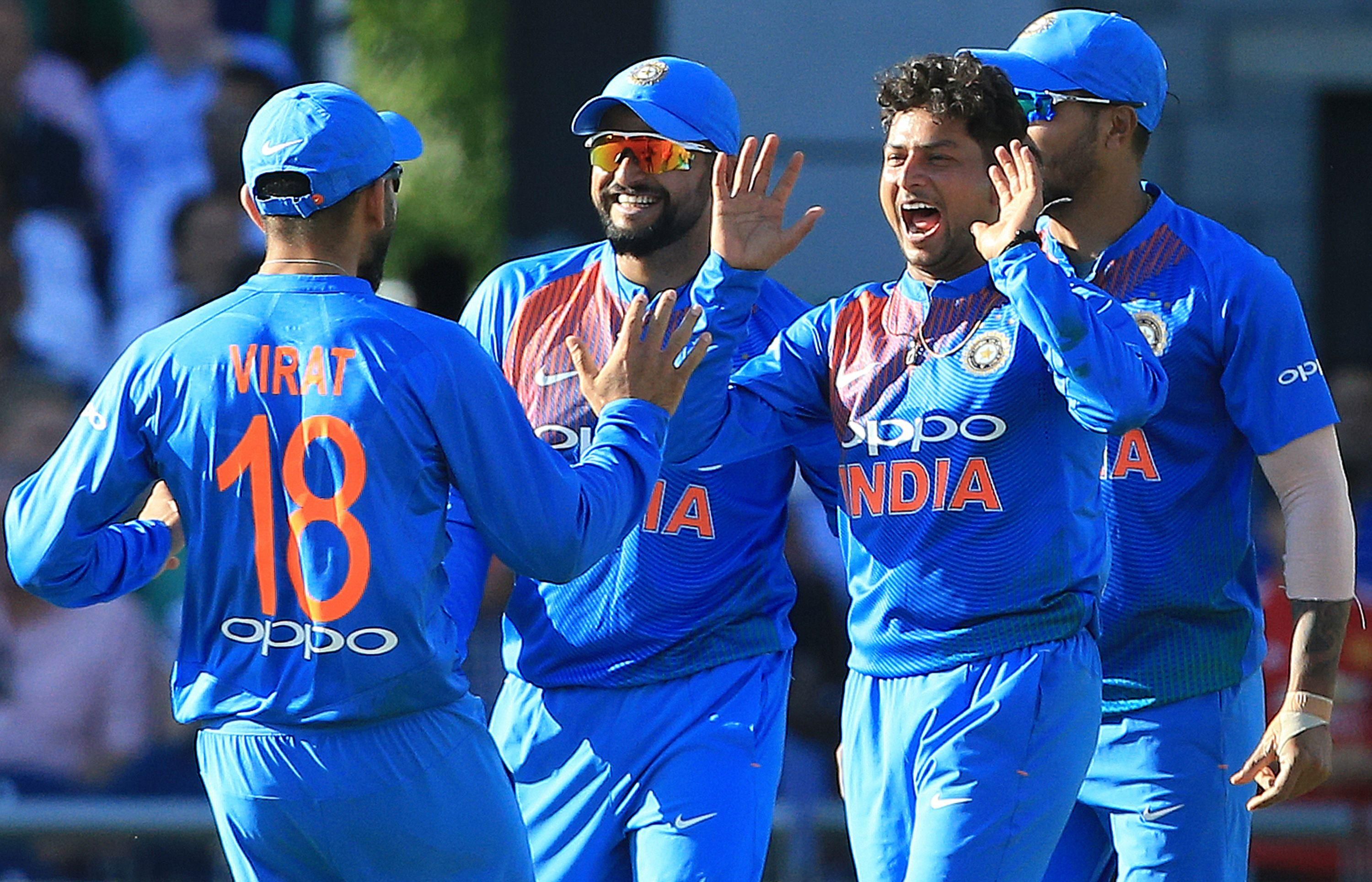India thrashed England in the first of three T20s at Old Trafford on Tuesday