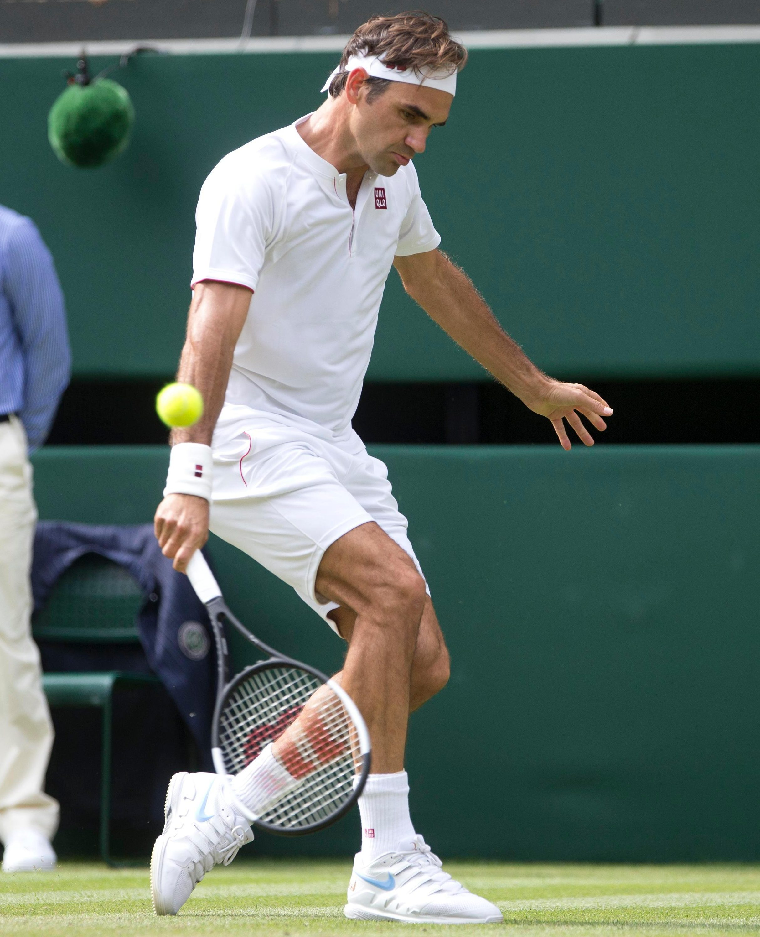 Federer is sublime at tennis and also pristine in his turnout on court
