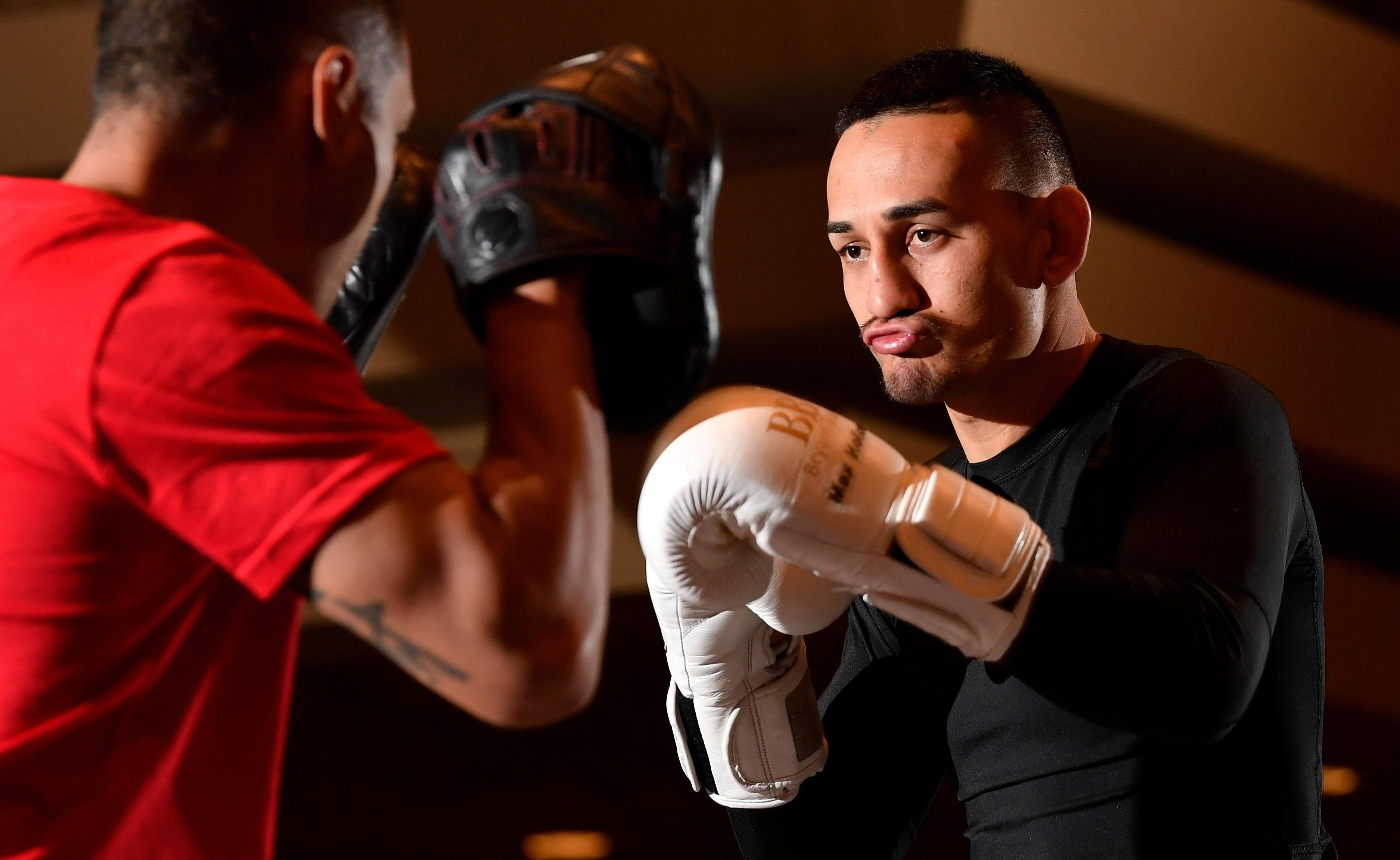 Max Holloway looked uncharacteristically slow at his media workout