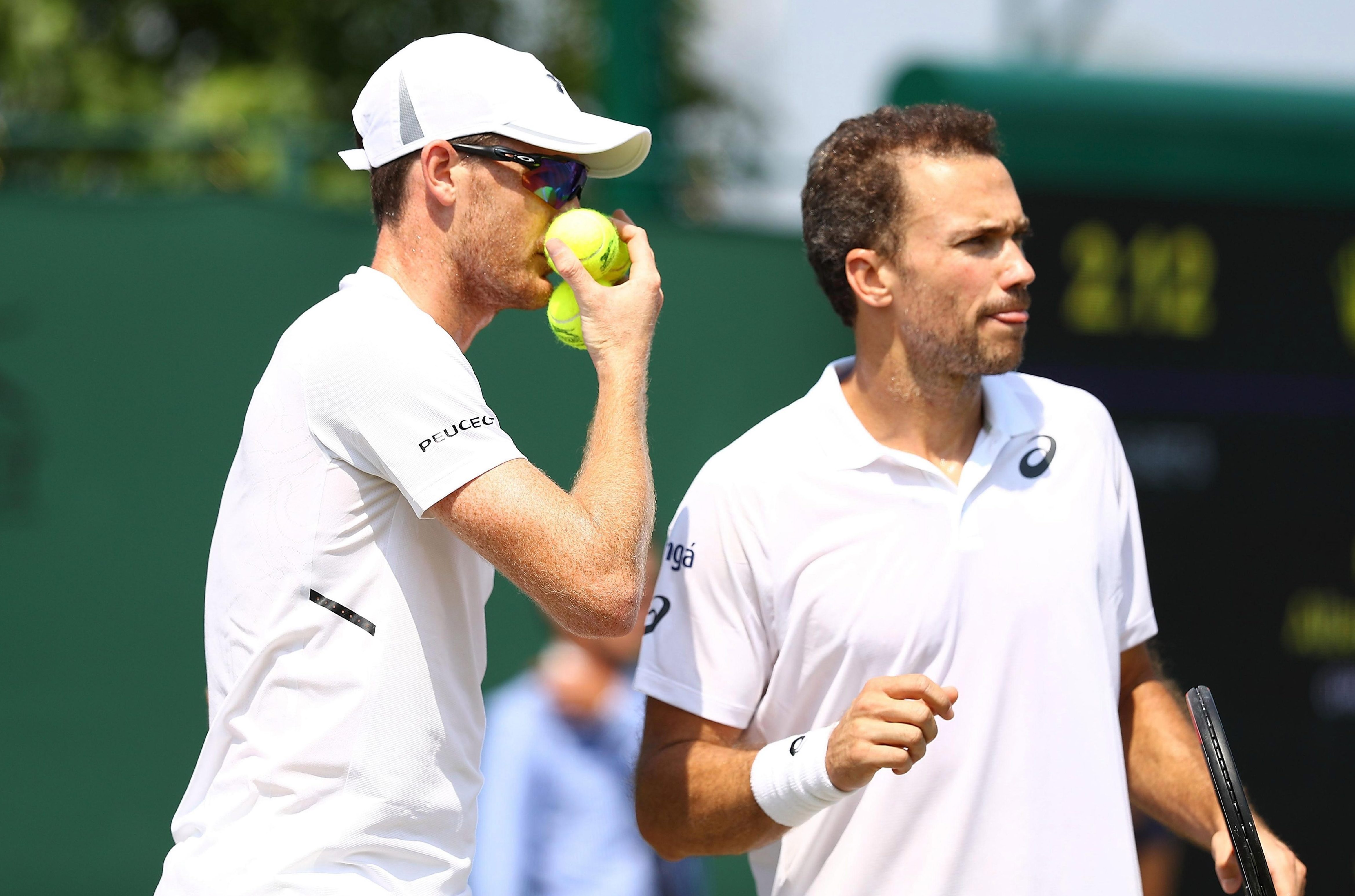 Jamie Murray and his mens doubles partner Bruno Soares