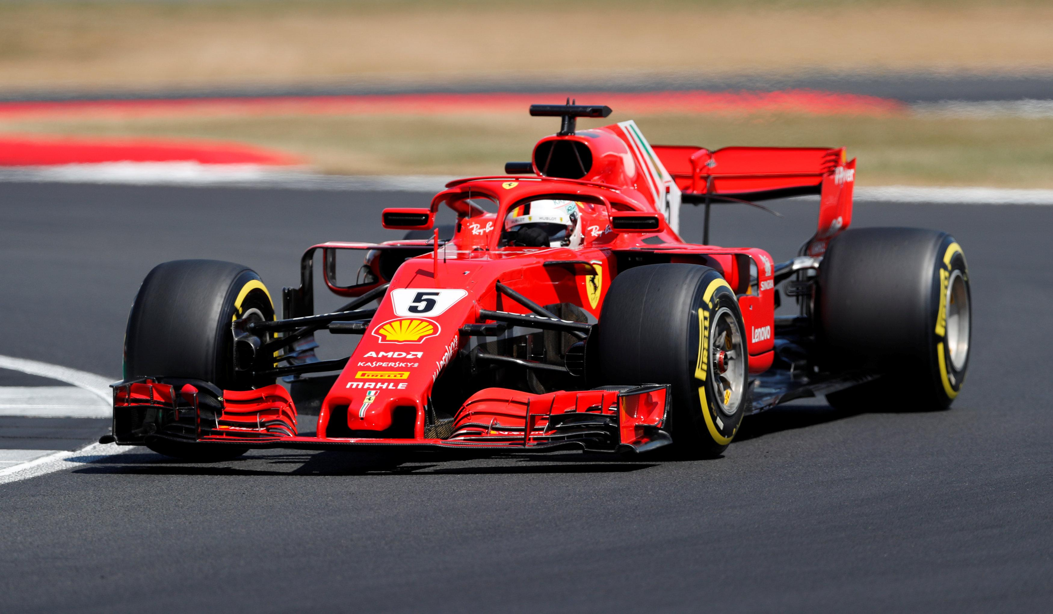 Sebastian Vettel leads the world title race by a point but will start second on the grid