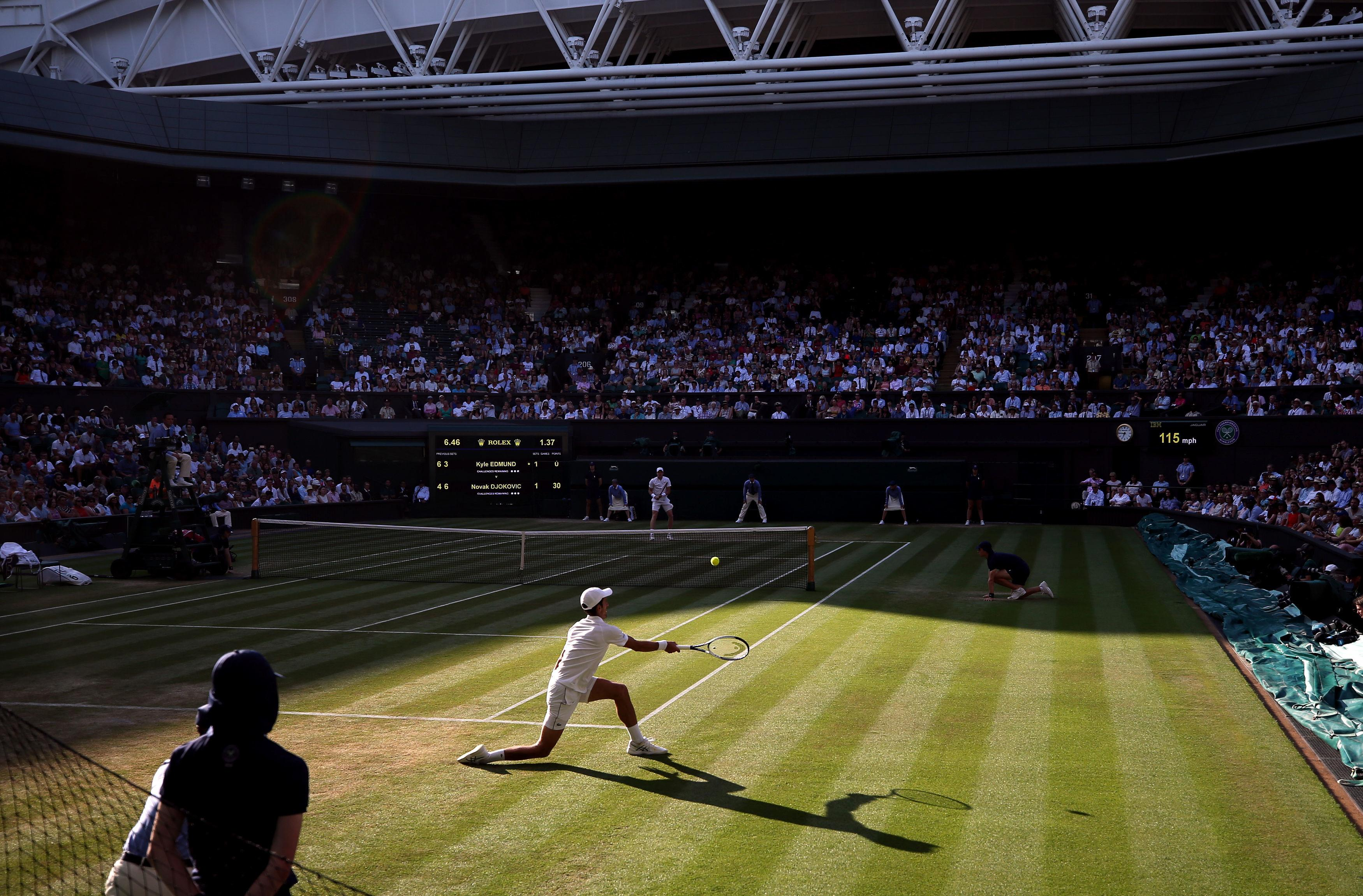 It was a roasting day on Centre Court and fans were treated to a cracking match