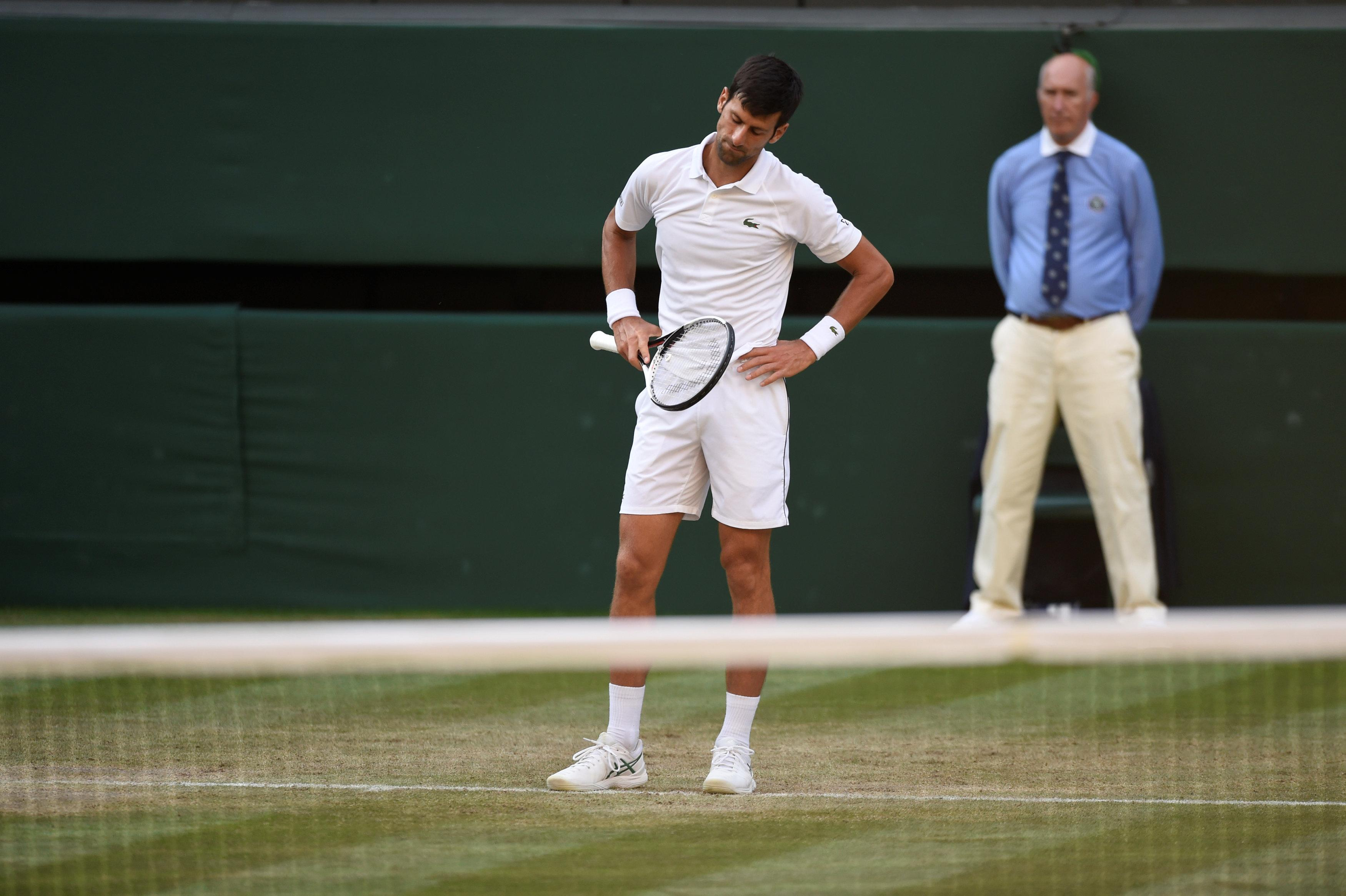 Edmund frustrated Djokovic during the clash on Centre Court