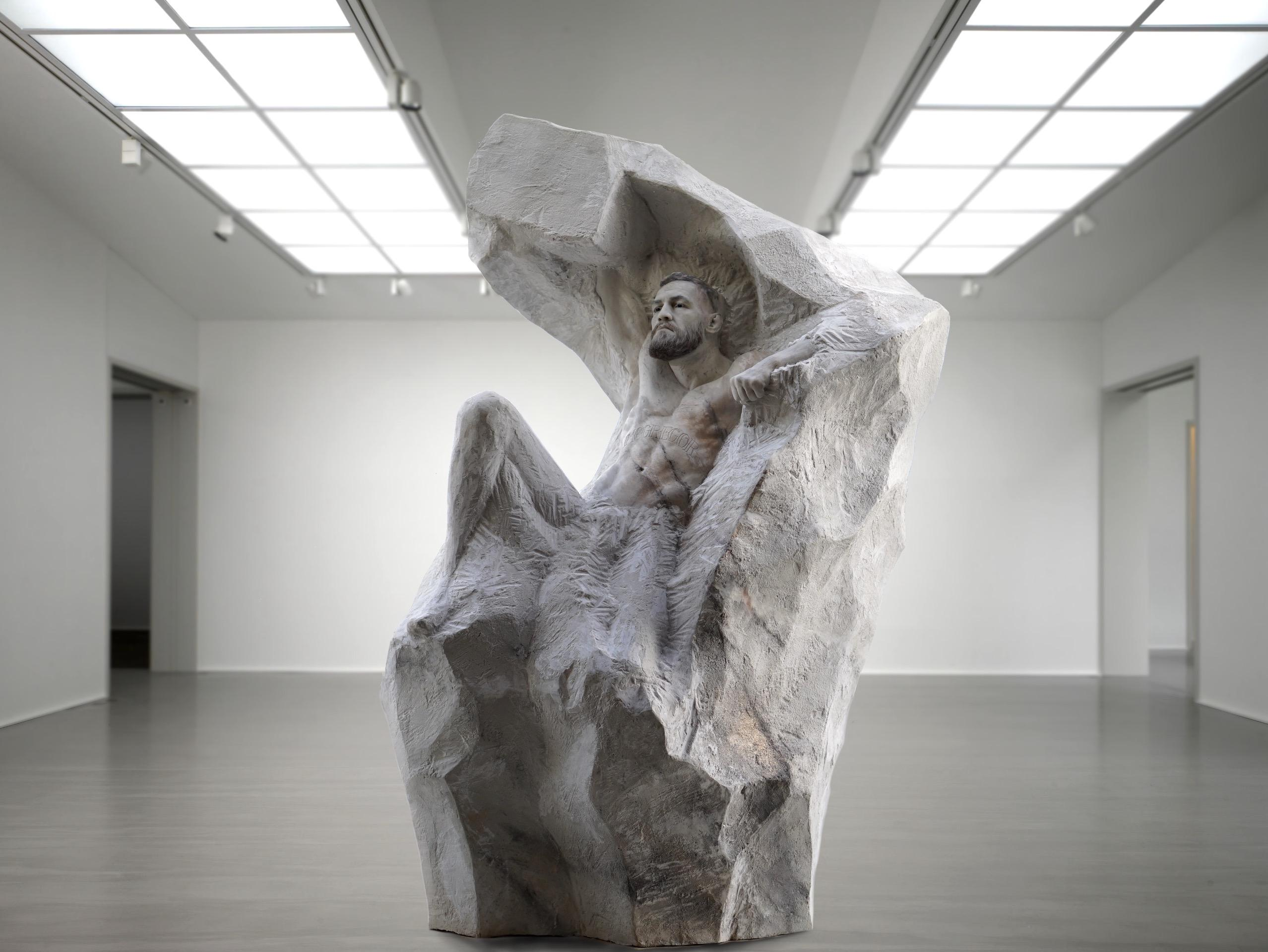 The sculpture will be on show from July 14, the UFC man's birthday, until September 30 in London