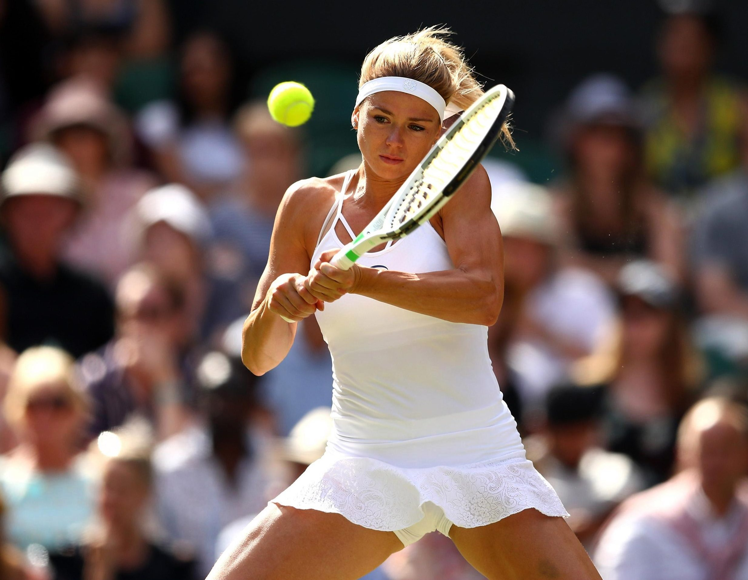 Camila Giorgi threatened an upset by taking the first set against Serena Williams