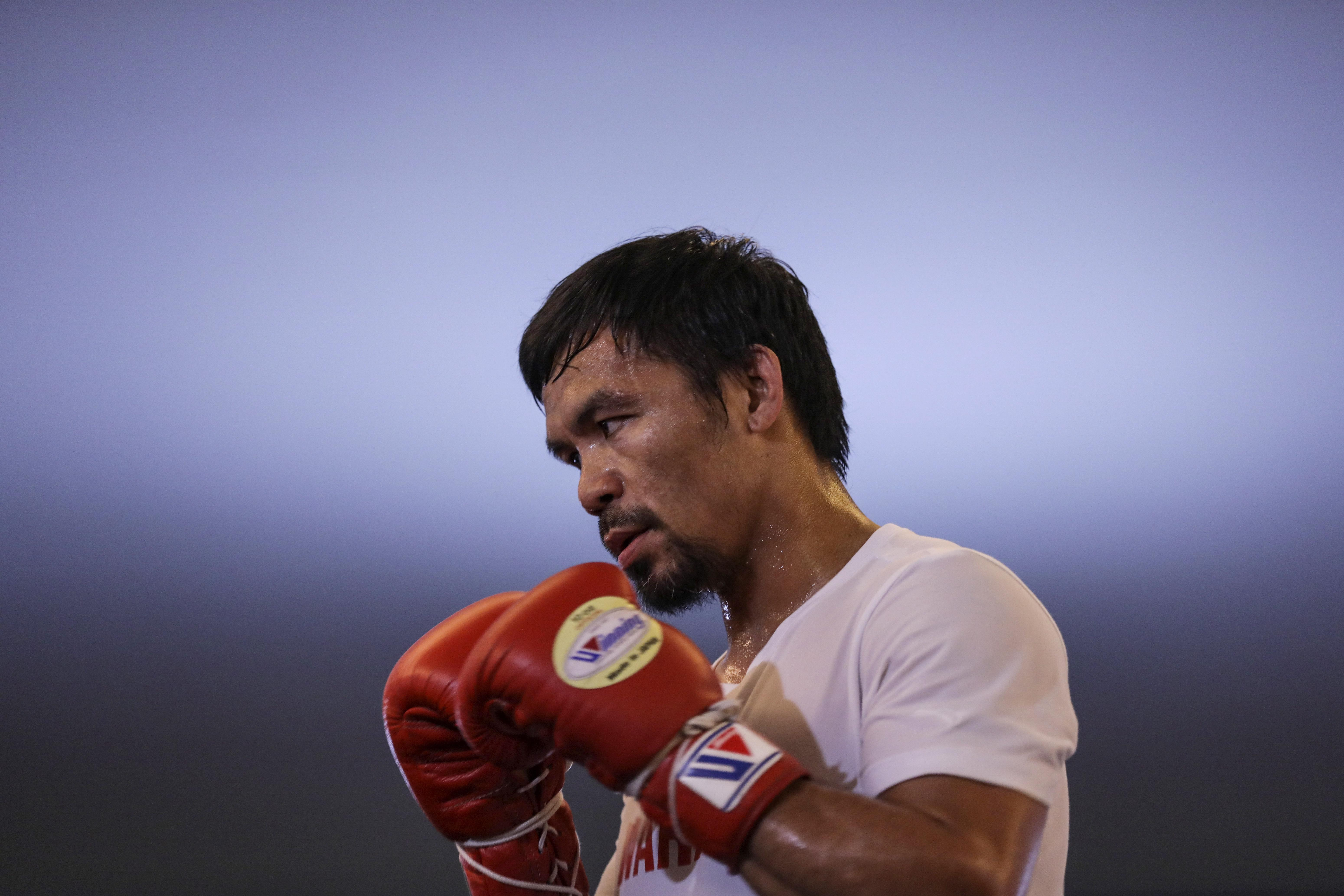 Pacquiao has his sights set on a 60th career win.