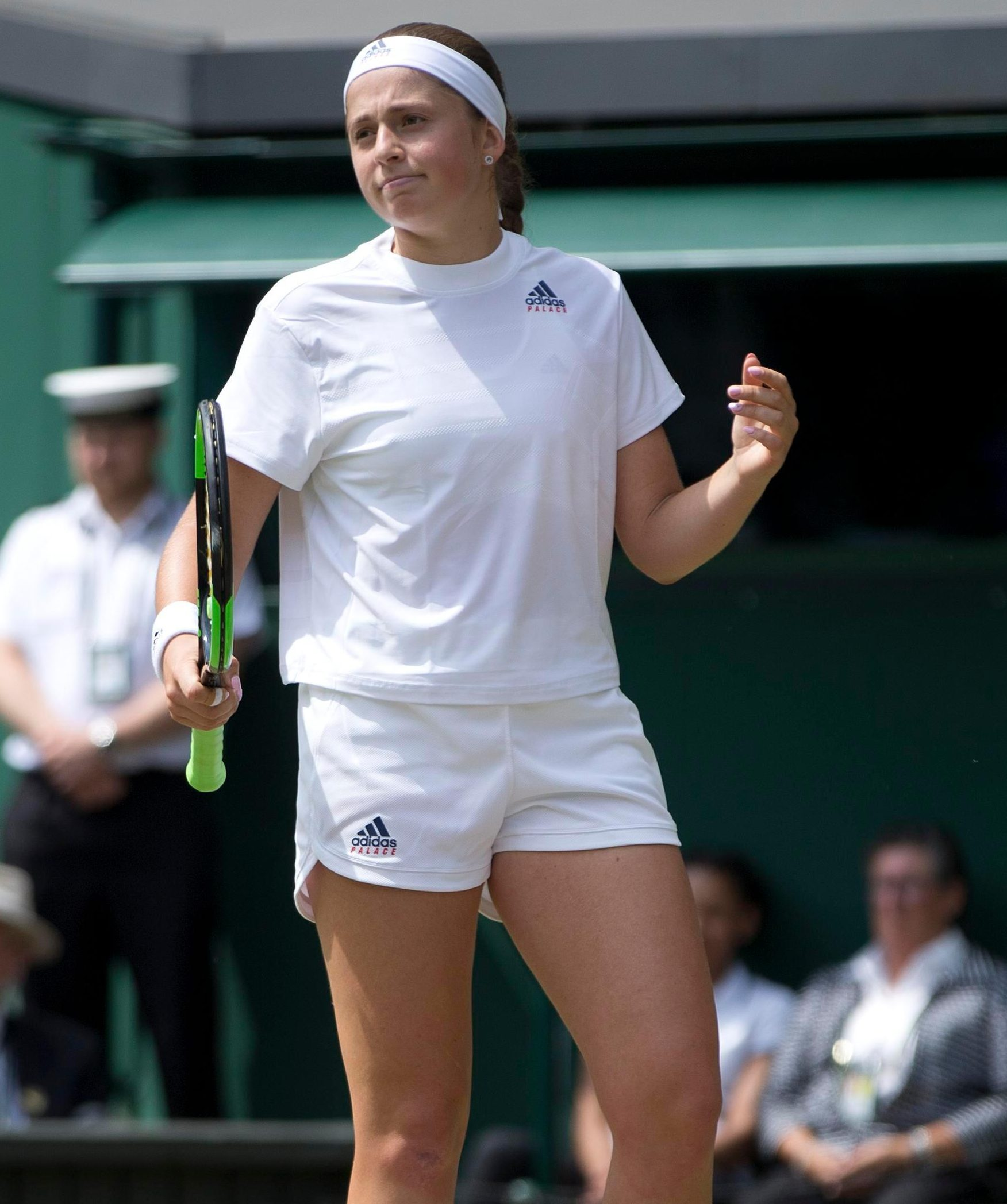Jelena Ostapenko could not overcome her opponent