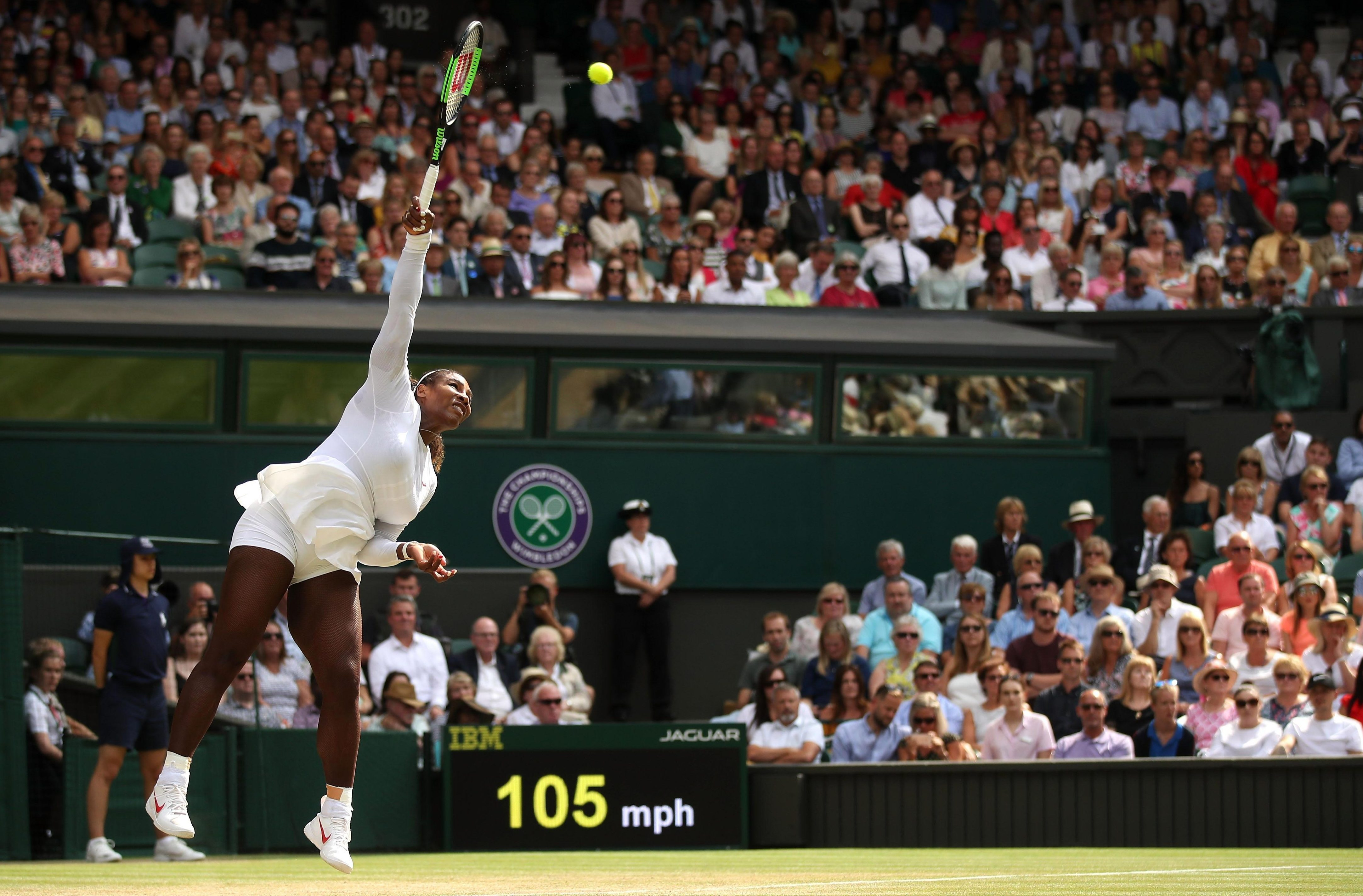 Supermum Serena Williams glided to another awesome win as she targets another historic achievement at SW19