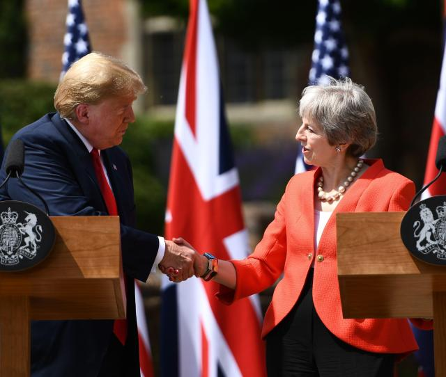 Donald Trump Says He Wants To Do A Trade Deal With The Uk As Soon As