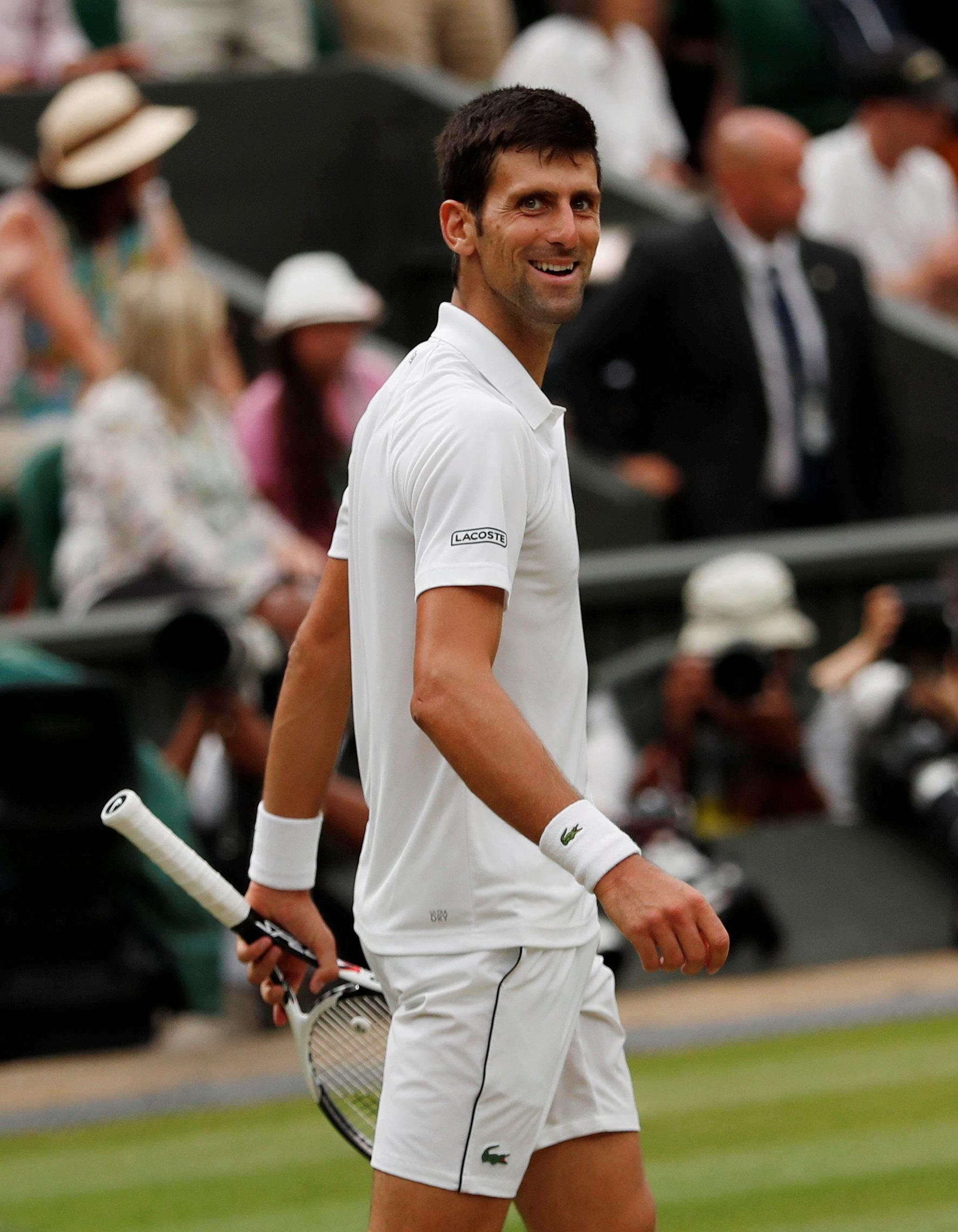 Novak Djokovic is into the Wimbledon final
