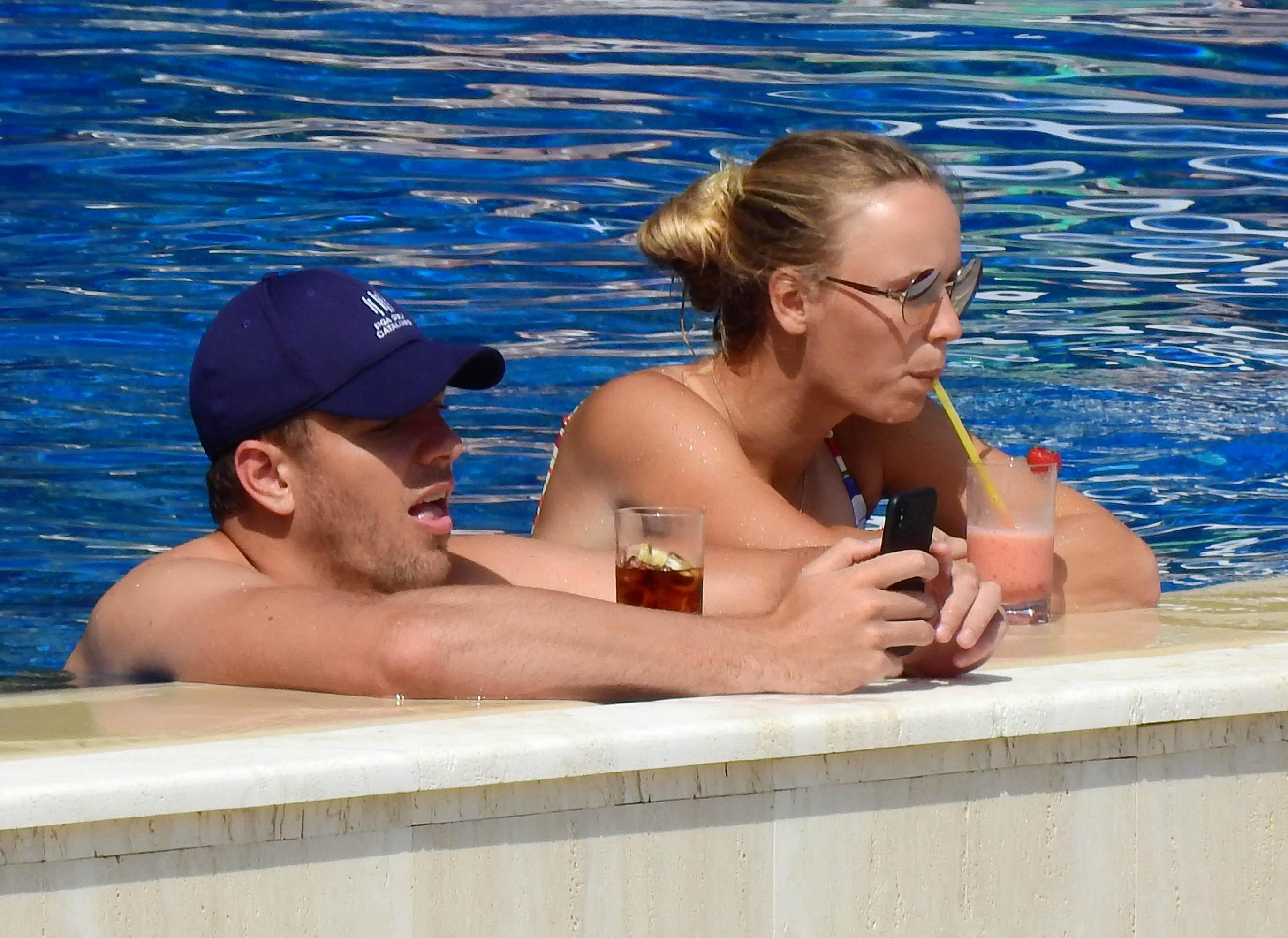 Wozniacki has been enjoying a relaxing holiday in Capri with fiance David Lee