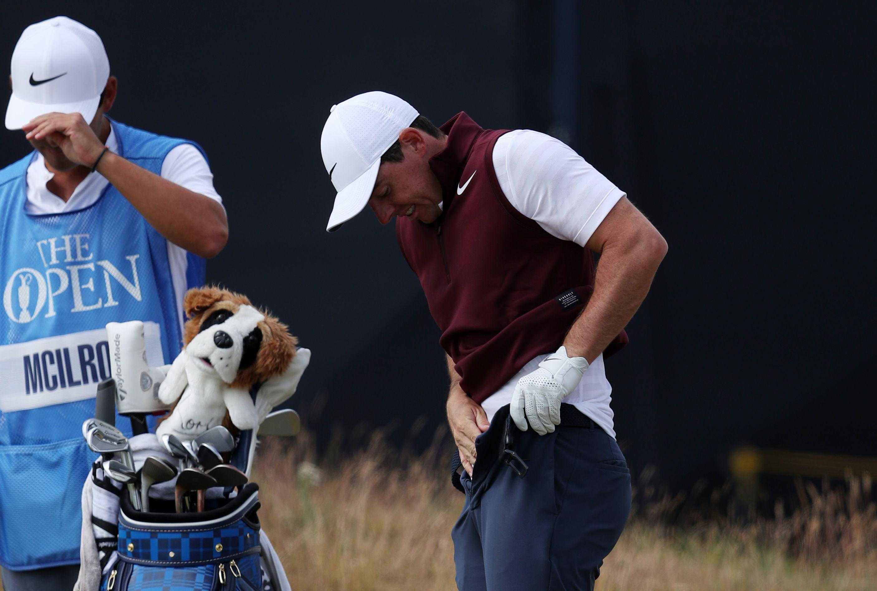 But Rory McIlroy shouldn't have worried that his shot was horrifically wide - in fact a rival player had sneaked off with his ball