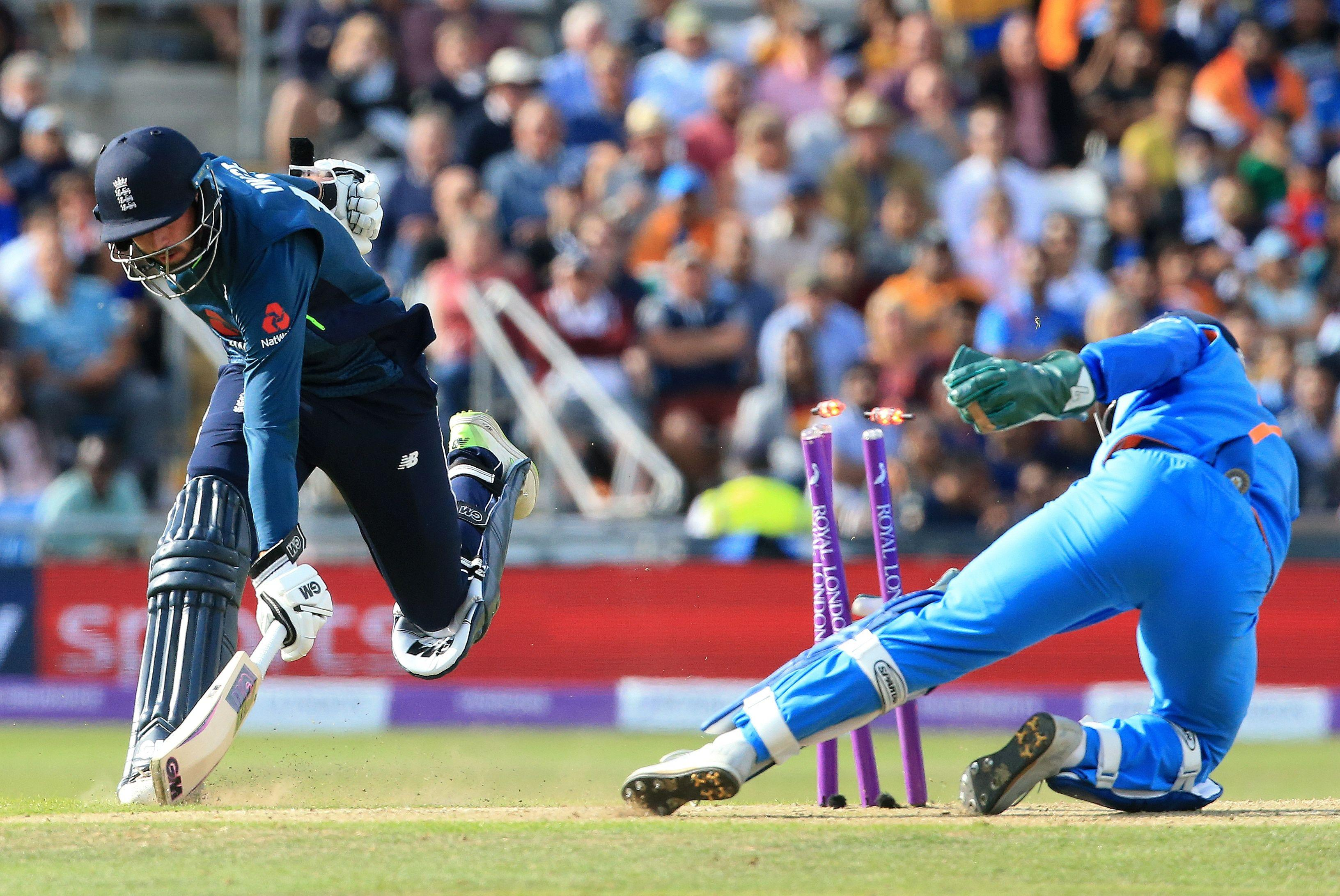James Vince looked typically stylish but was run out for 27