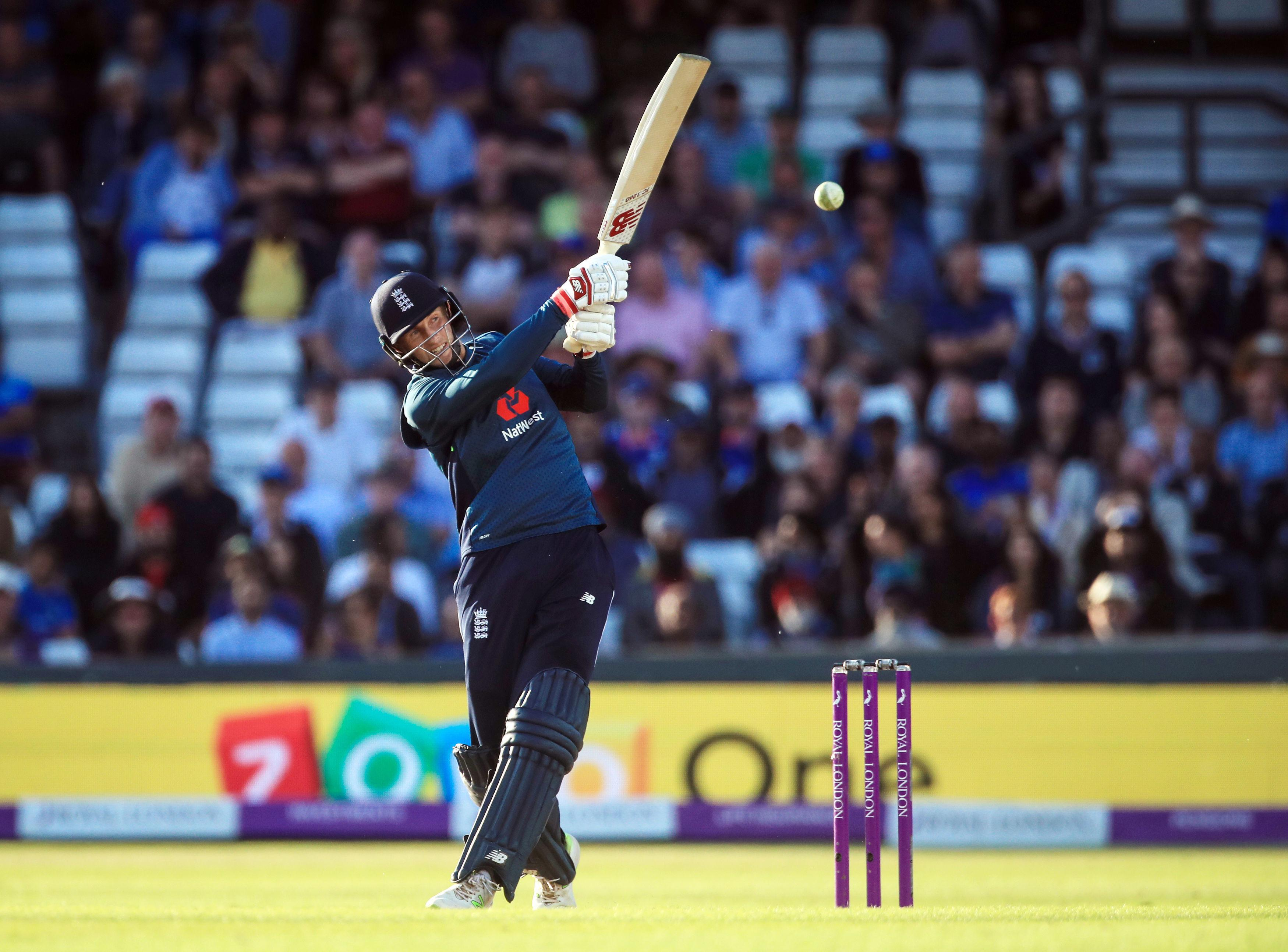 Root hits out on his way to 100 not out on his home ground