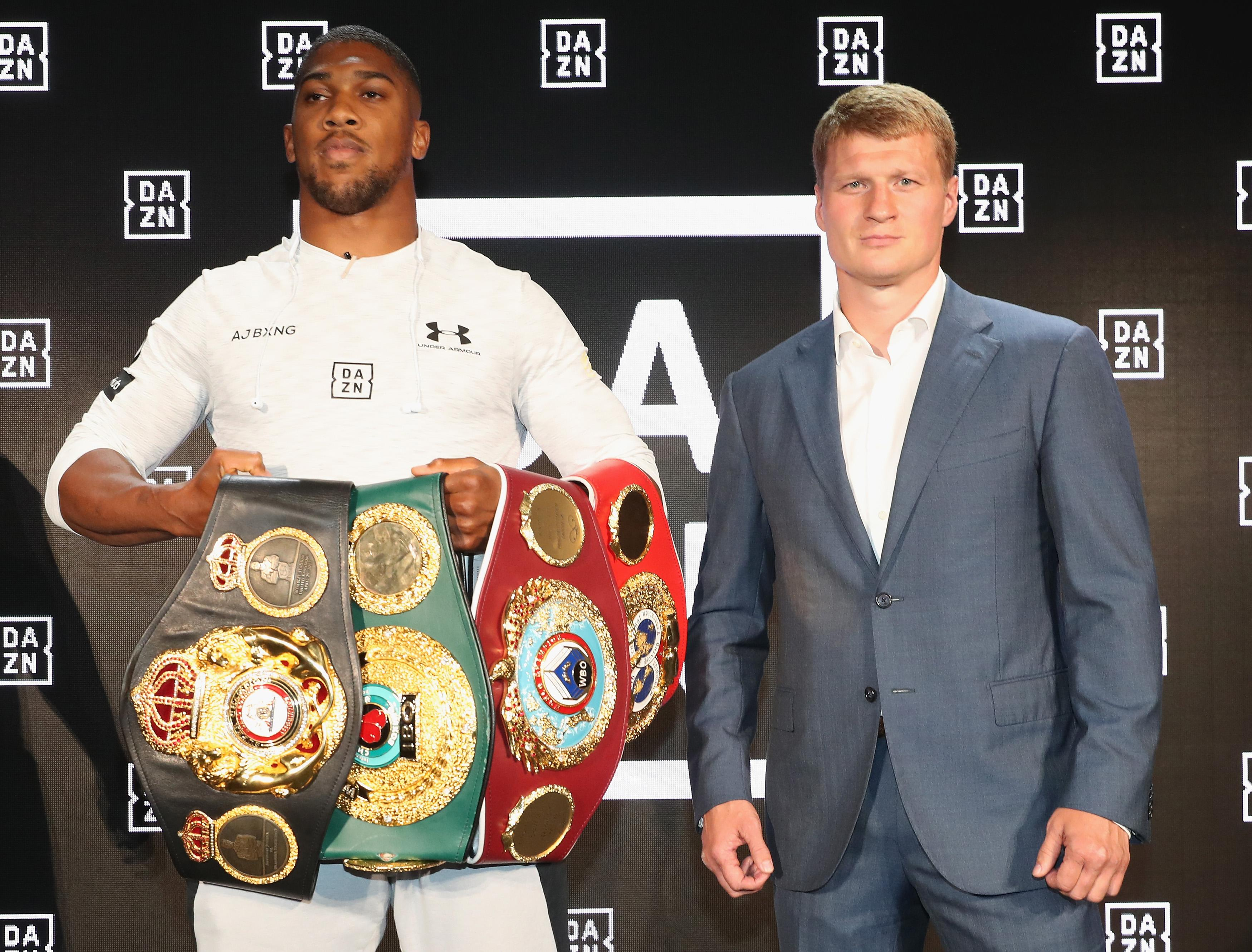 Joshua has so far failed to find an agreement with Deontay Wilder over w world heavyweight unification fight