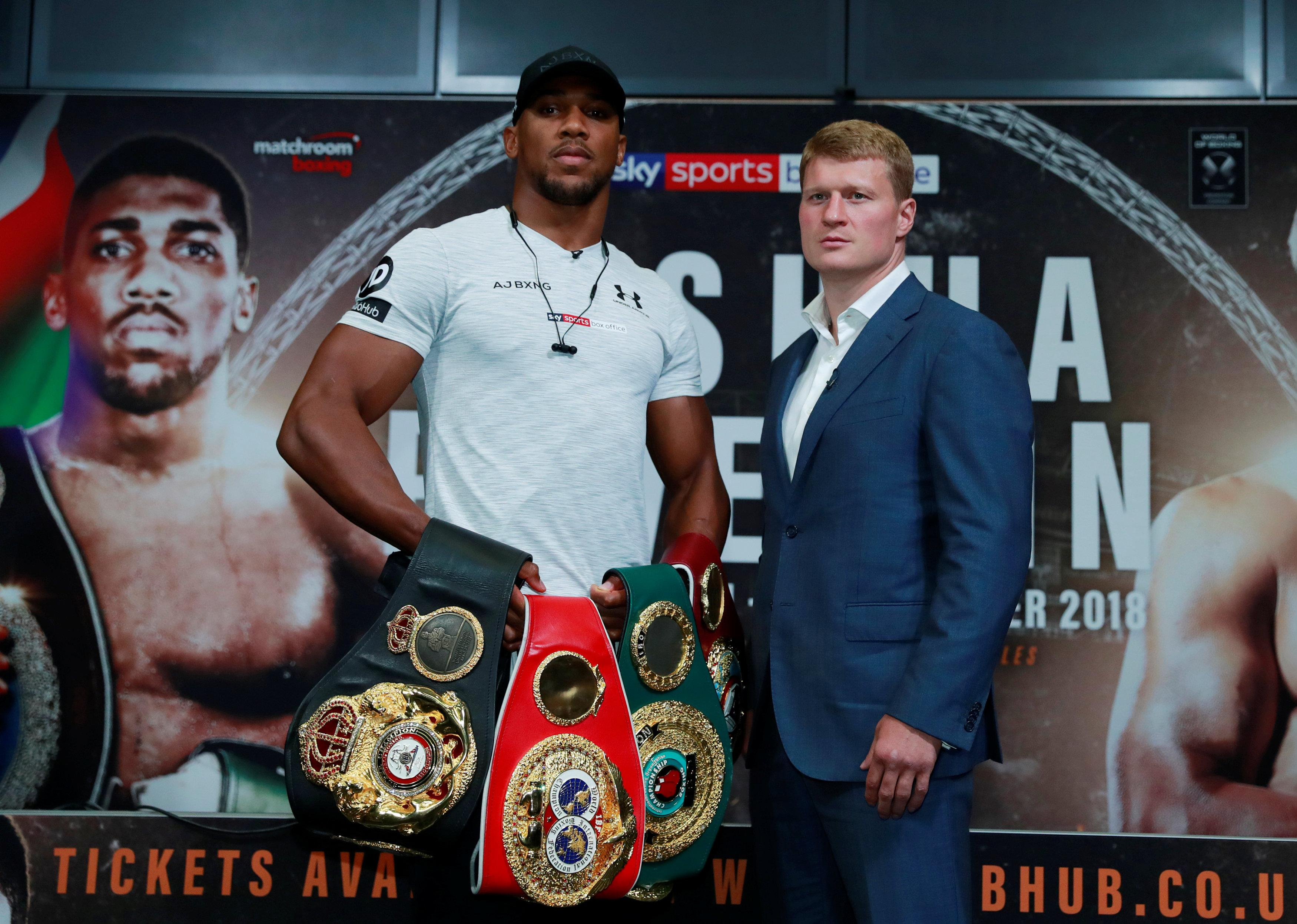 Despite his altercation with Jarrell Miller, Anthony Joshua's thoughts are firmly on Alexander Povetkin