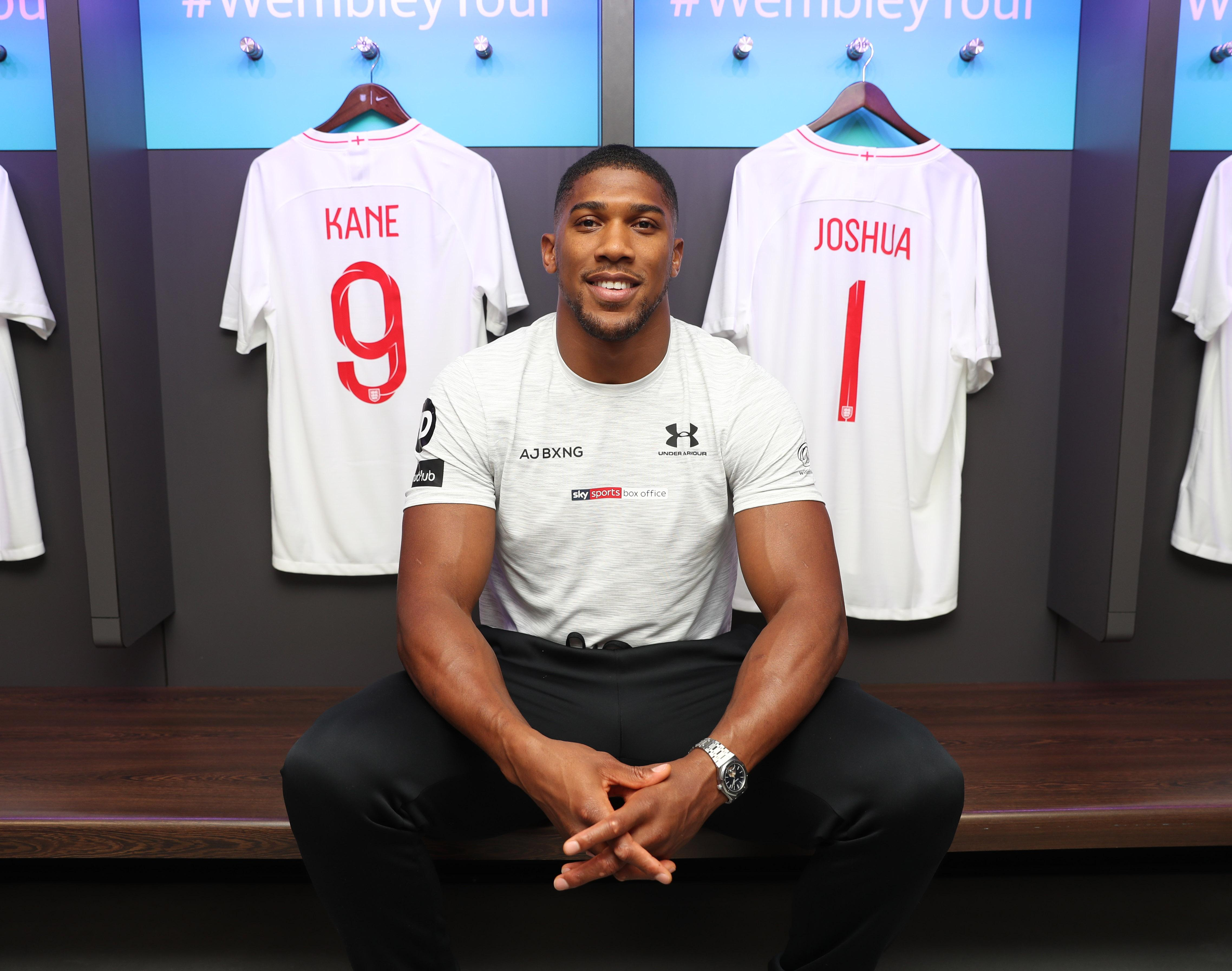 AJ has previously spoken of how his loyalties have been torn between England and Nigeria - but today he was happy to be placed alongside Harry Kane