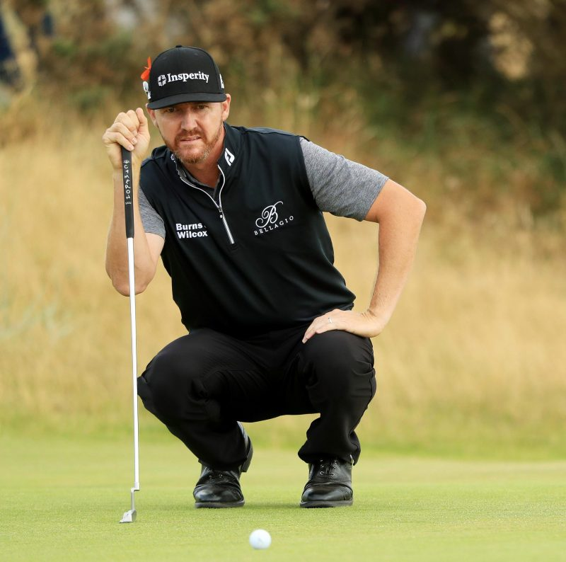 Jimmy Walker has been playing football with the Americans at The Open