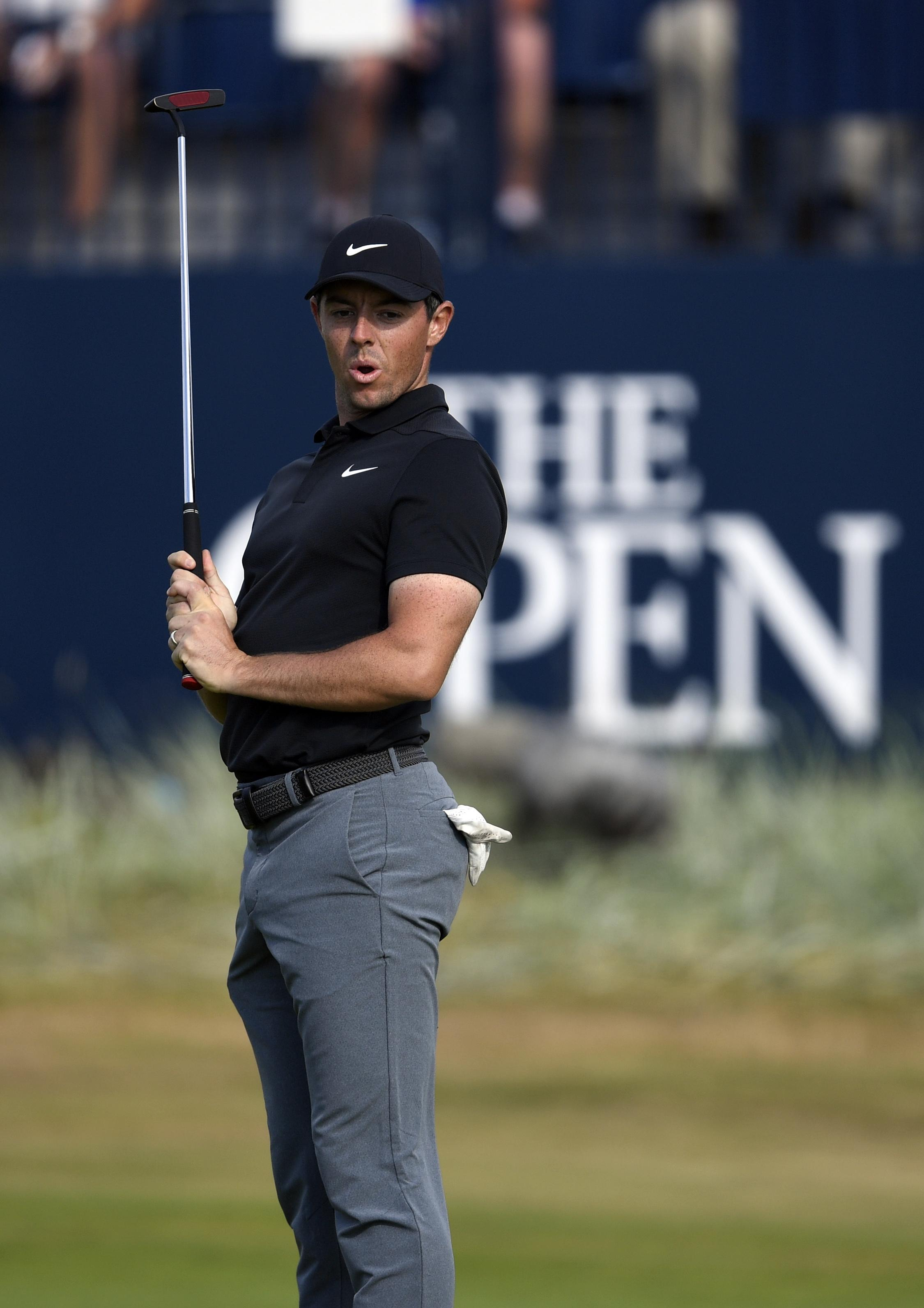 Rory McIlroy is hot on the heels of Open leader Kevin Kisner