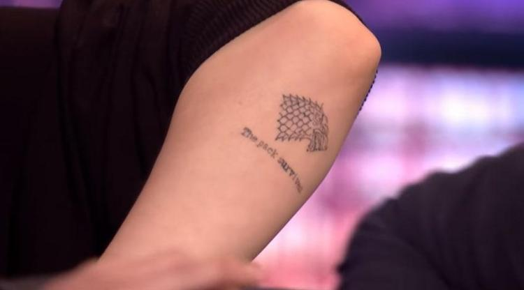Sophie Turner explained her Game Of Thrones tattoo on The Late Late Show