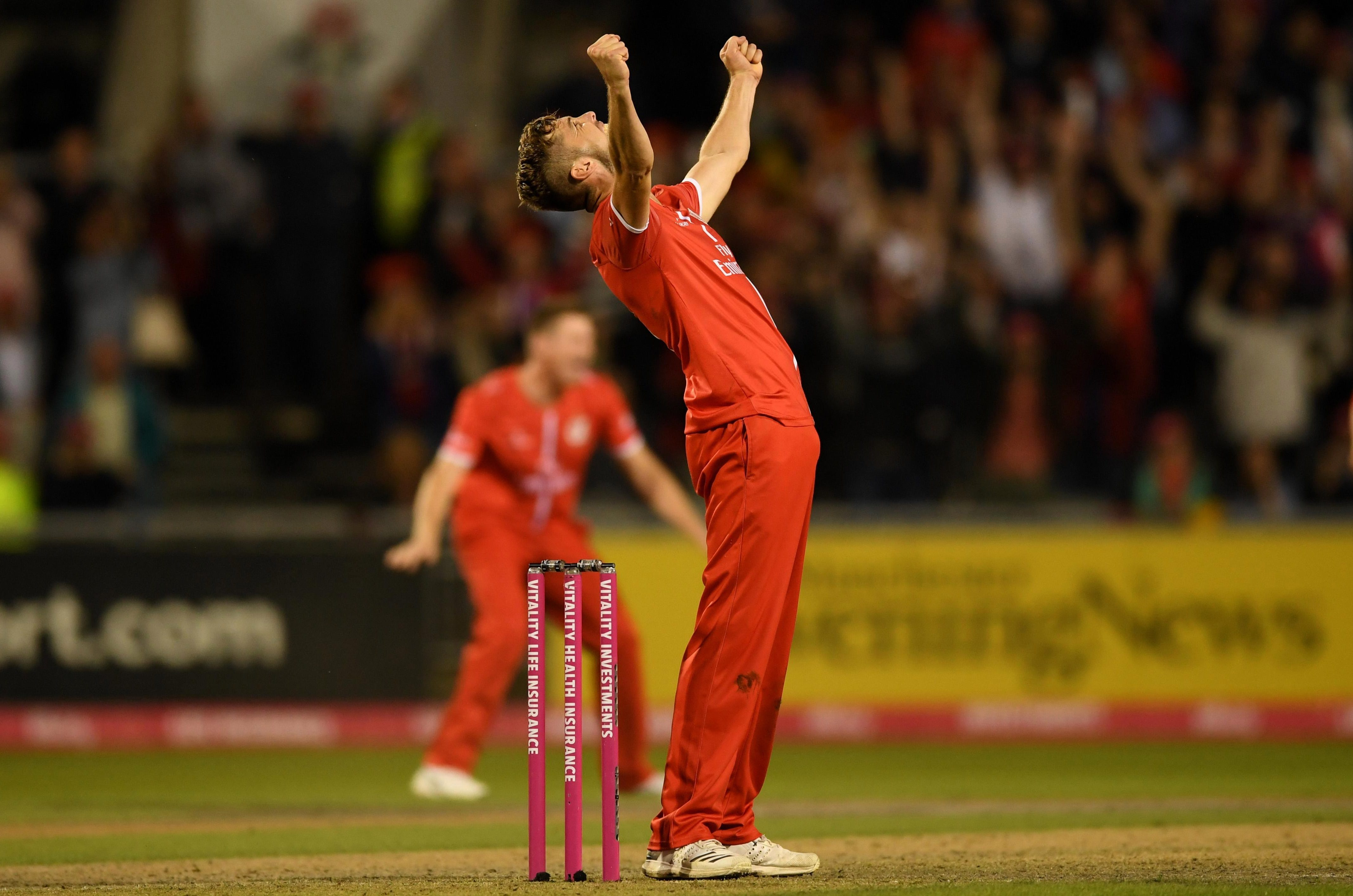 Toby Lester held his nerve at the death for Lancashire