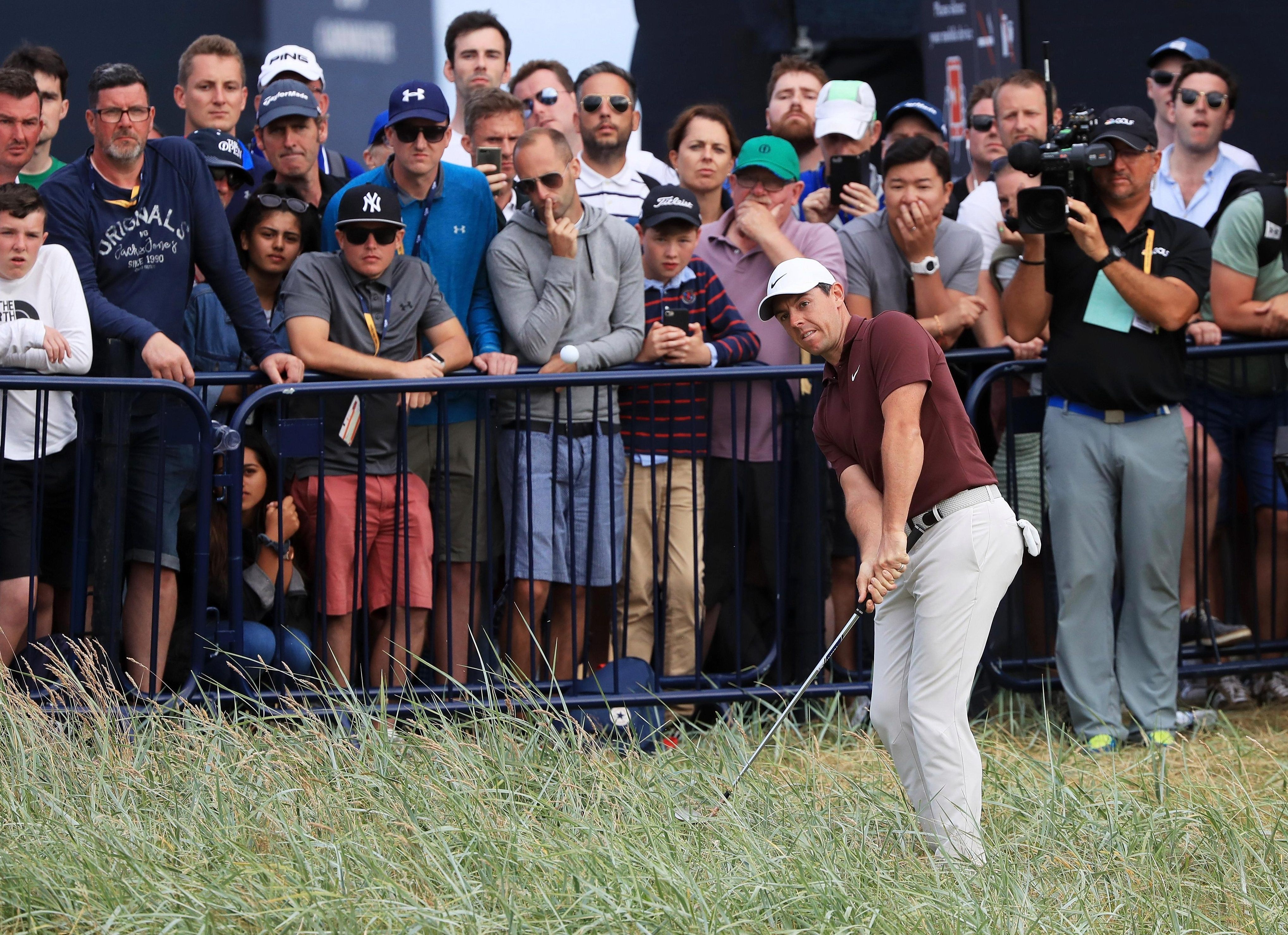 Rory McIlroy finished the third round at Carnoustie with a 70, following two 69s