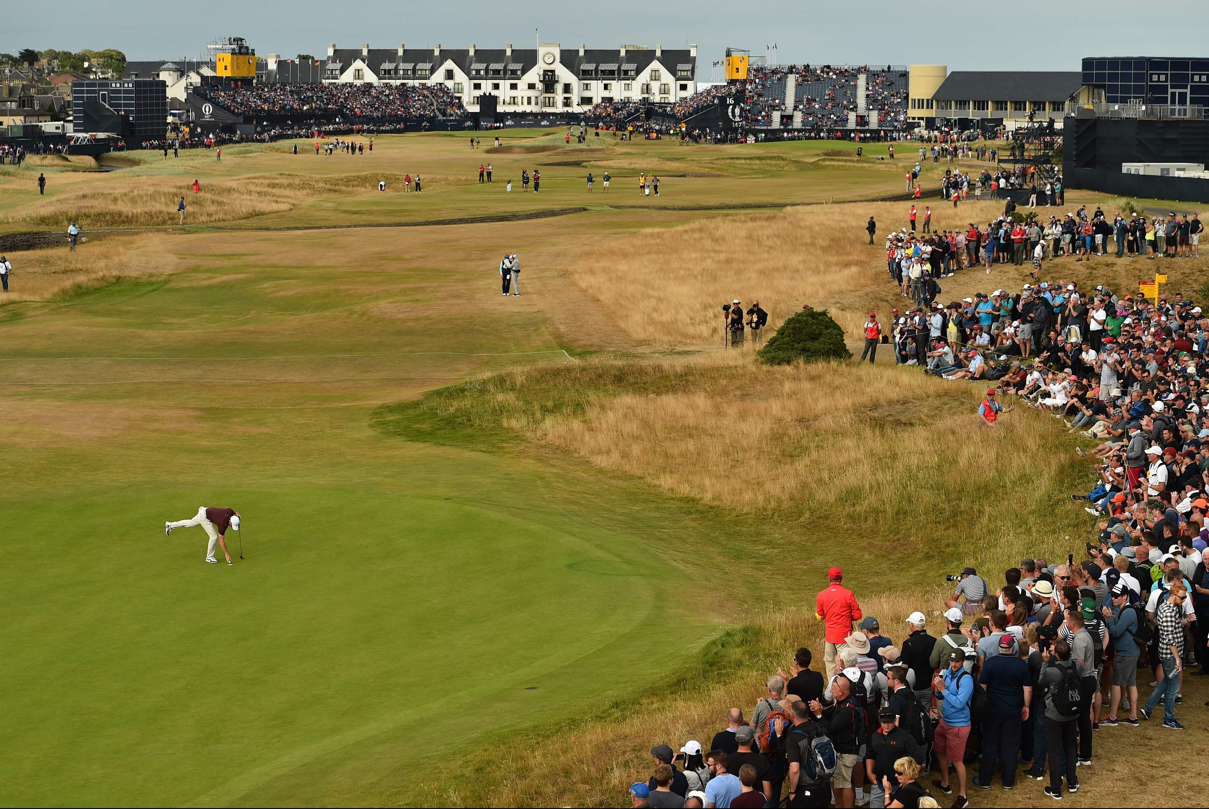 Rory McIlroy is the leading Brit, along with Tommy Fleetwood, on five under par