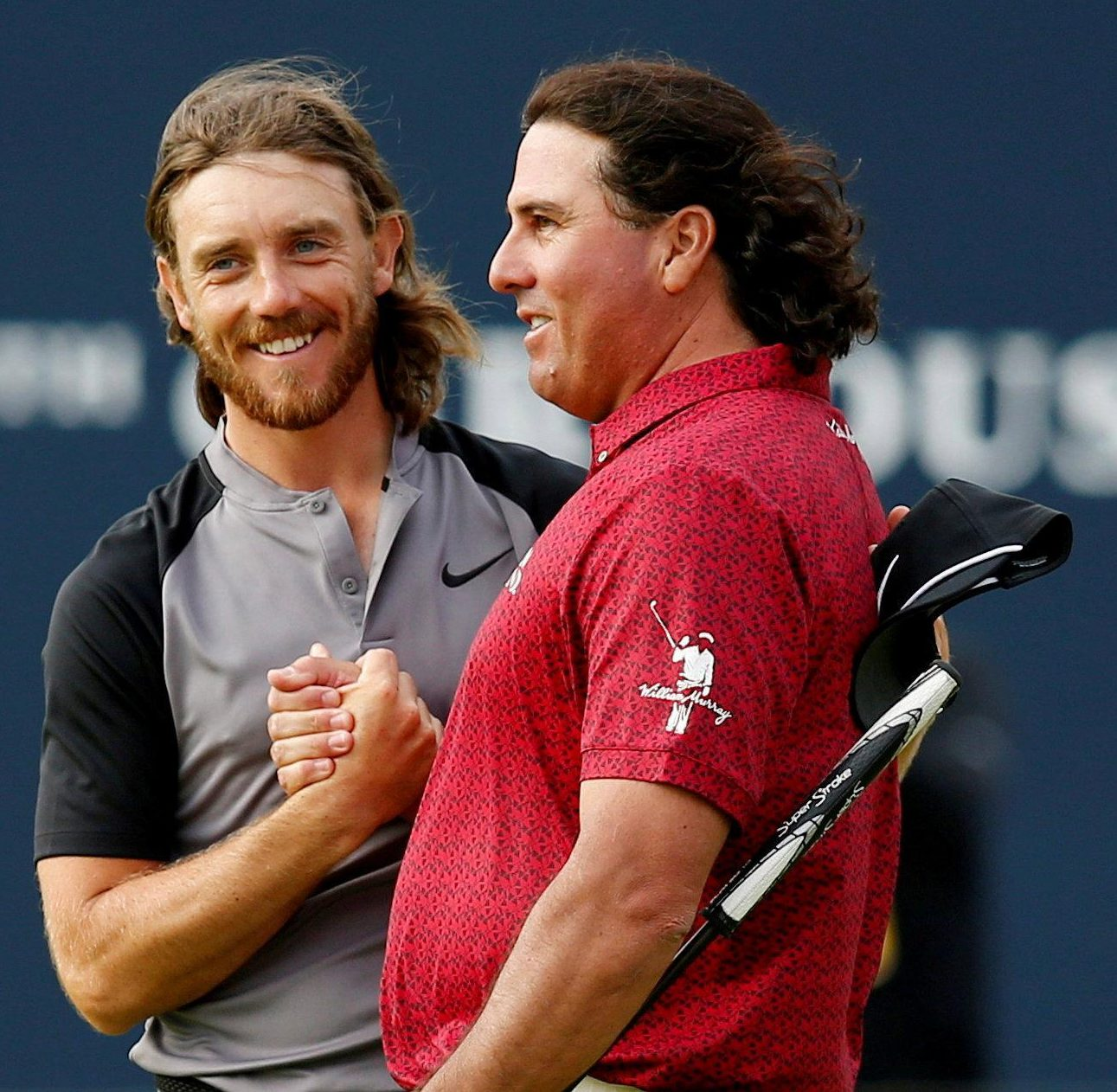 Tommy Fleetwood and Pat Perez are still in good spirits despite a poor day
