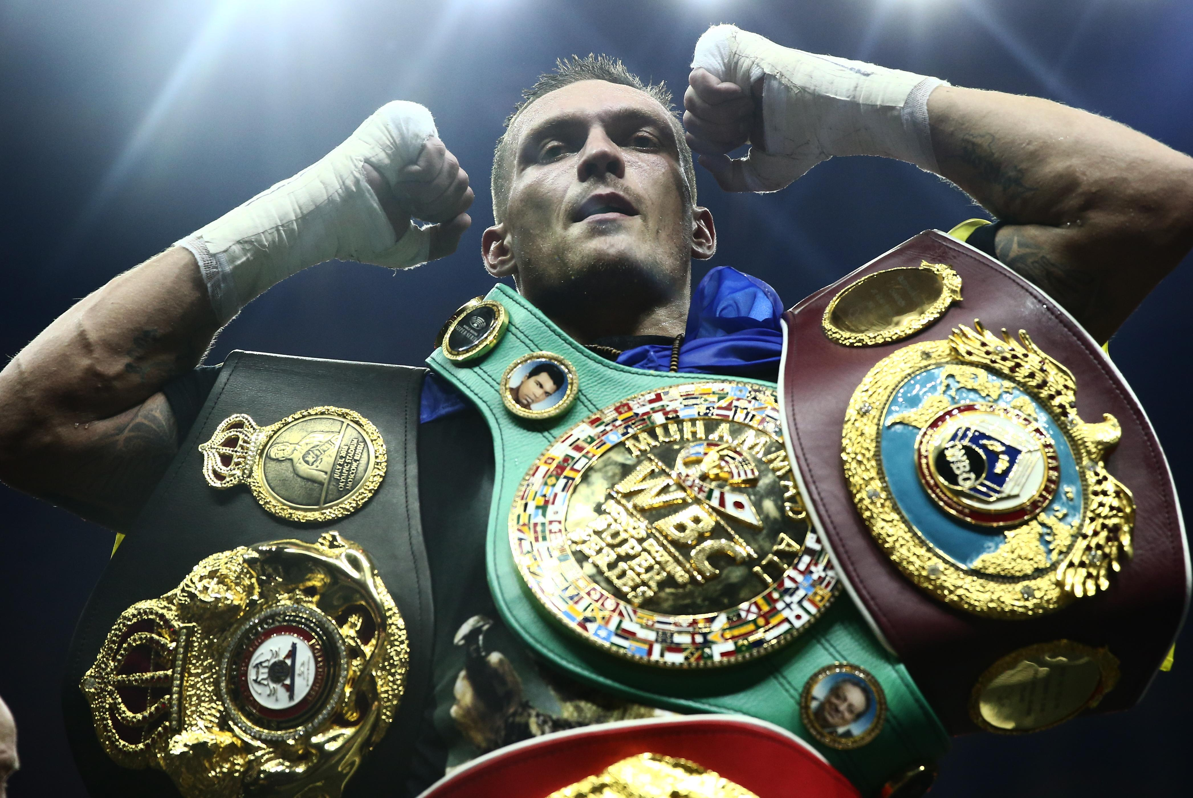 Oleksandr Usyk holds four world titles at cuiserweight following last night's victory