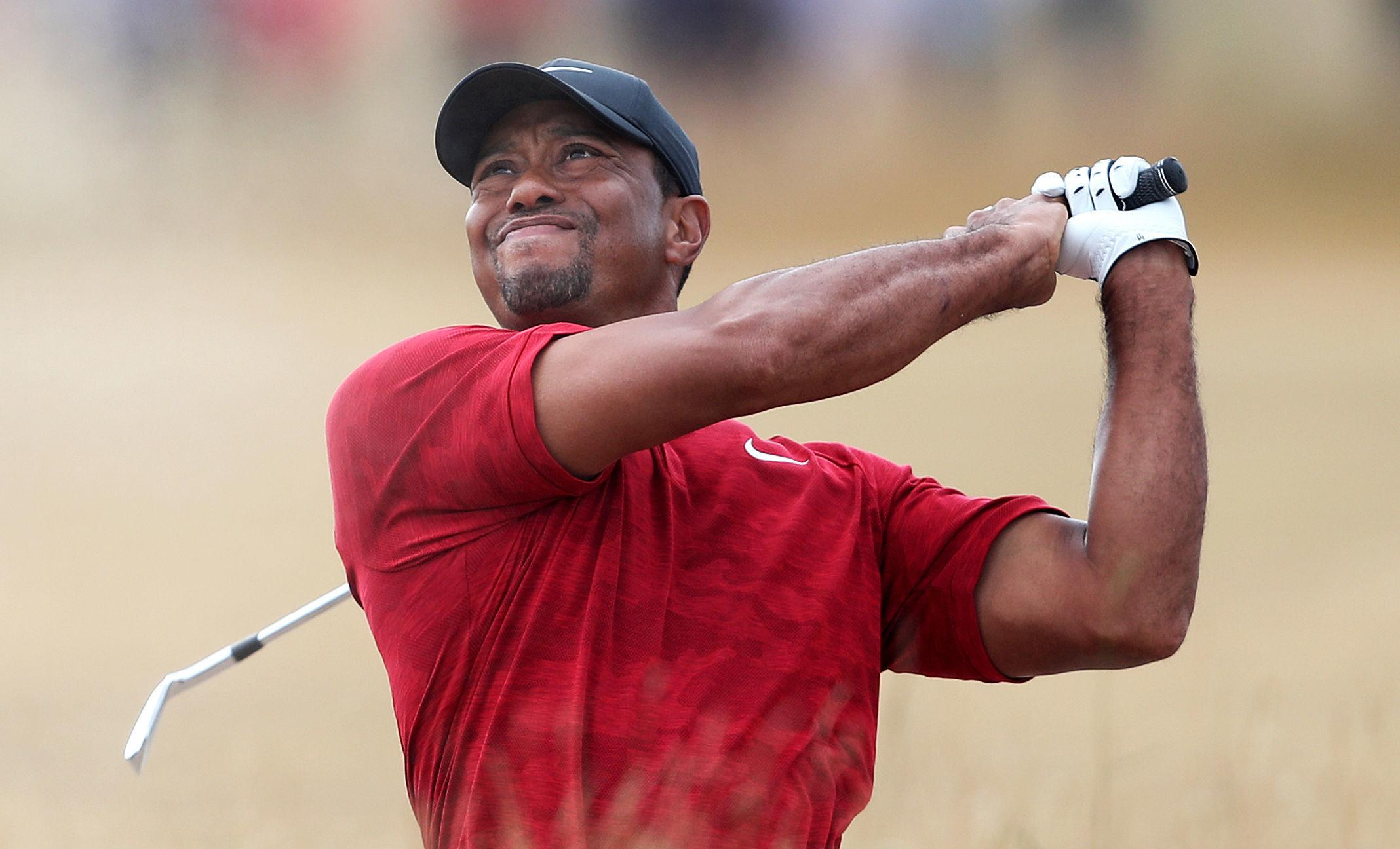 Tiger Woods made a charge in the final round of the Open at Carnoustie