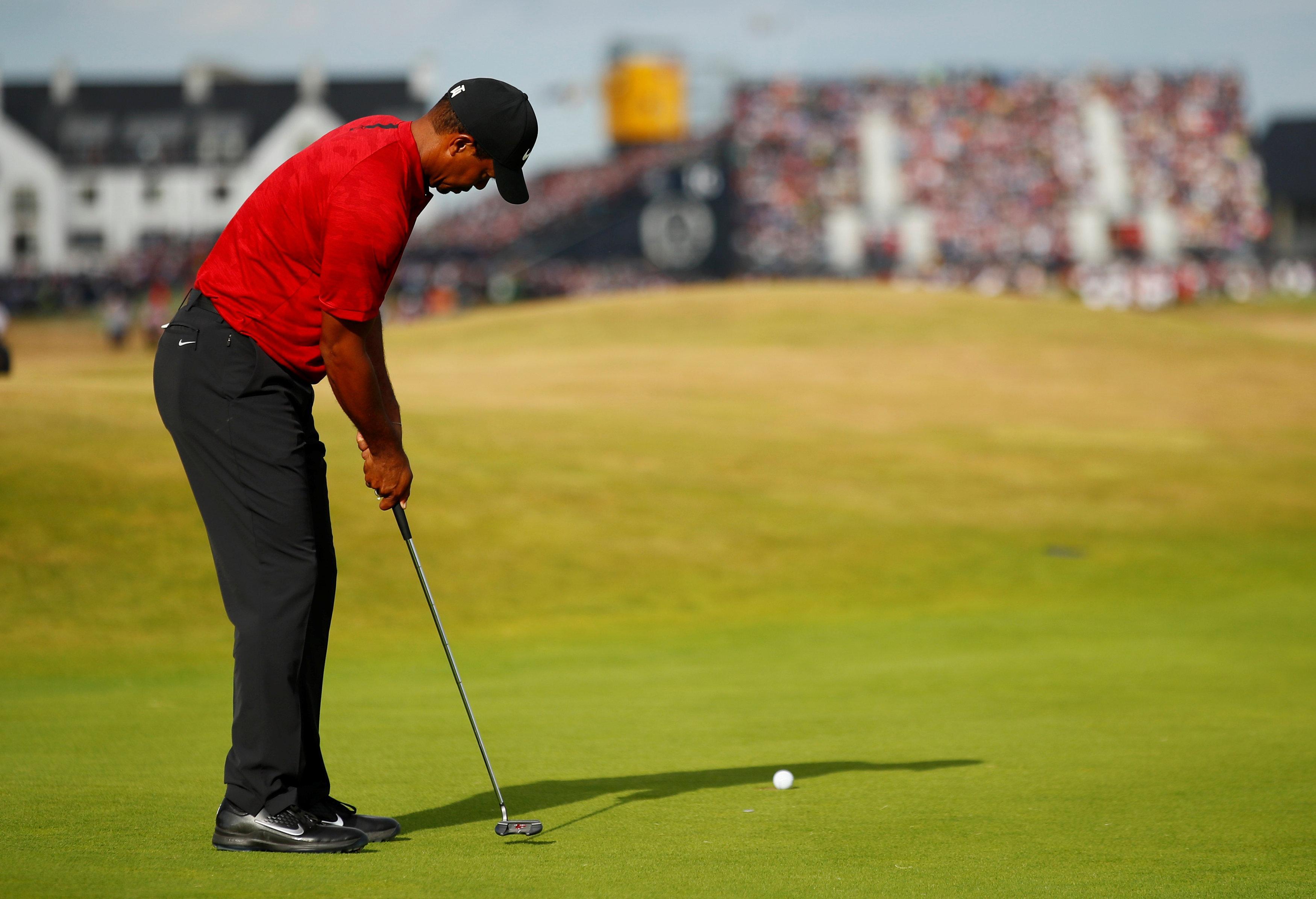 Tiger Woods eventually finished on 279, just three shots off Francesco Molinari