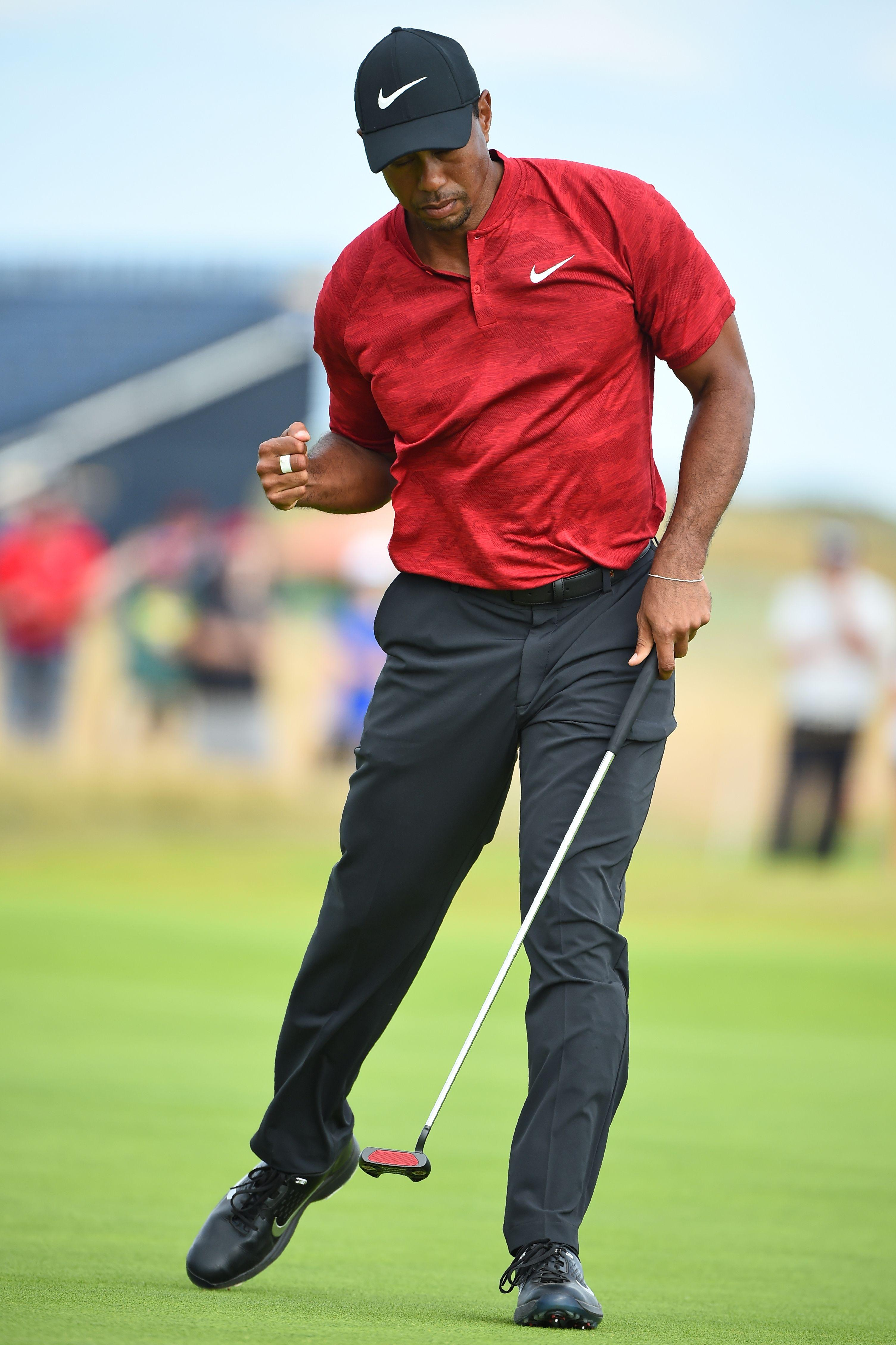 Multiple major winner Woods was leading during the final round before he hit a double bogey at the 11th