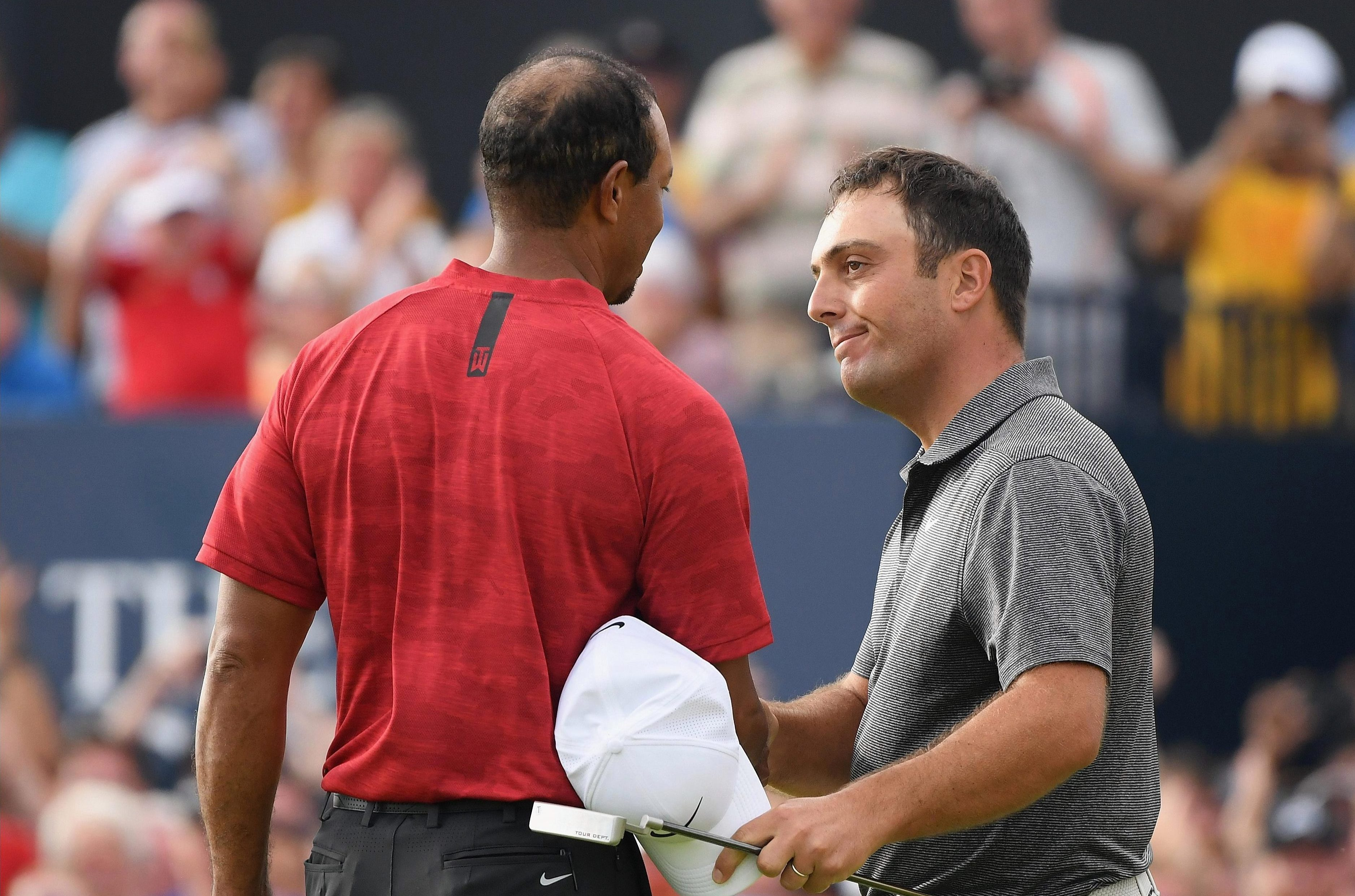 Francesco Molinari, Woods' playing partner on the final day, went on to claim the Claret Jug