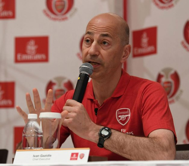 Ivan Gazidis will NOT quite Arsenal for a similar role with AC Milan, according to the Gunners