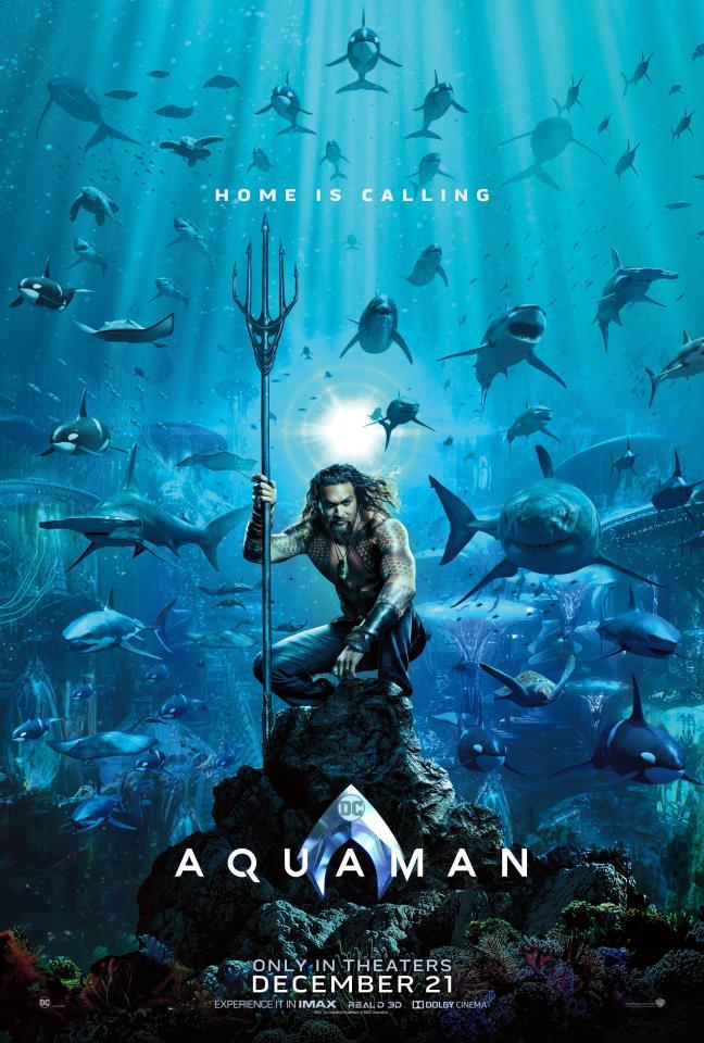 Jason Momoa returns as Aquaman in the 2018 film