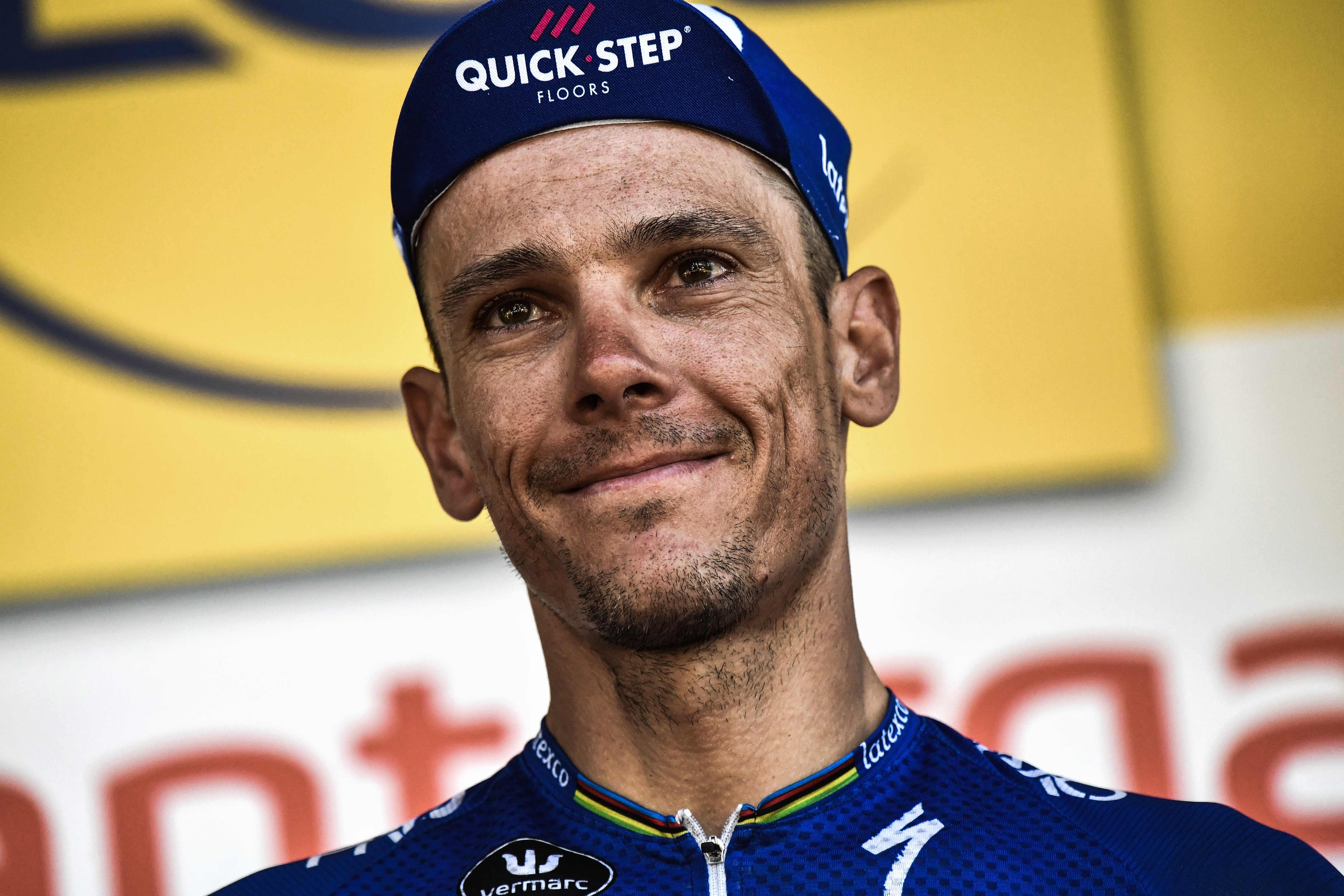 The smash-up failed to shake the spirit of smiling Belgian Philippe Gilbert