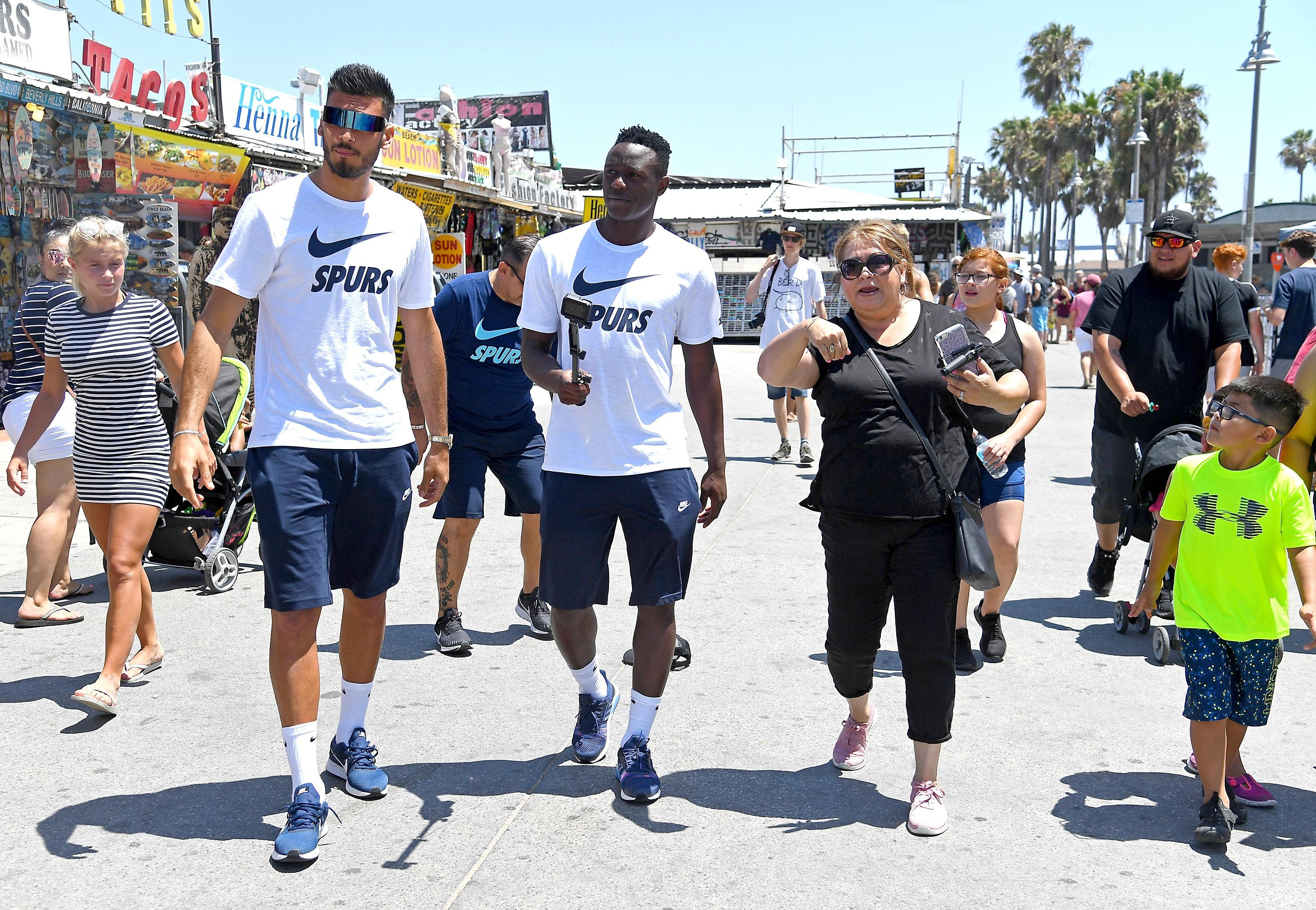 Victor Wanyama has suffered an injury setback with Tottenham during their time in the US