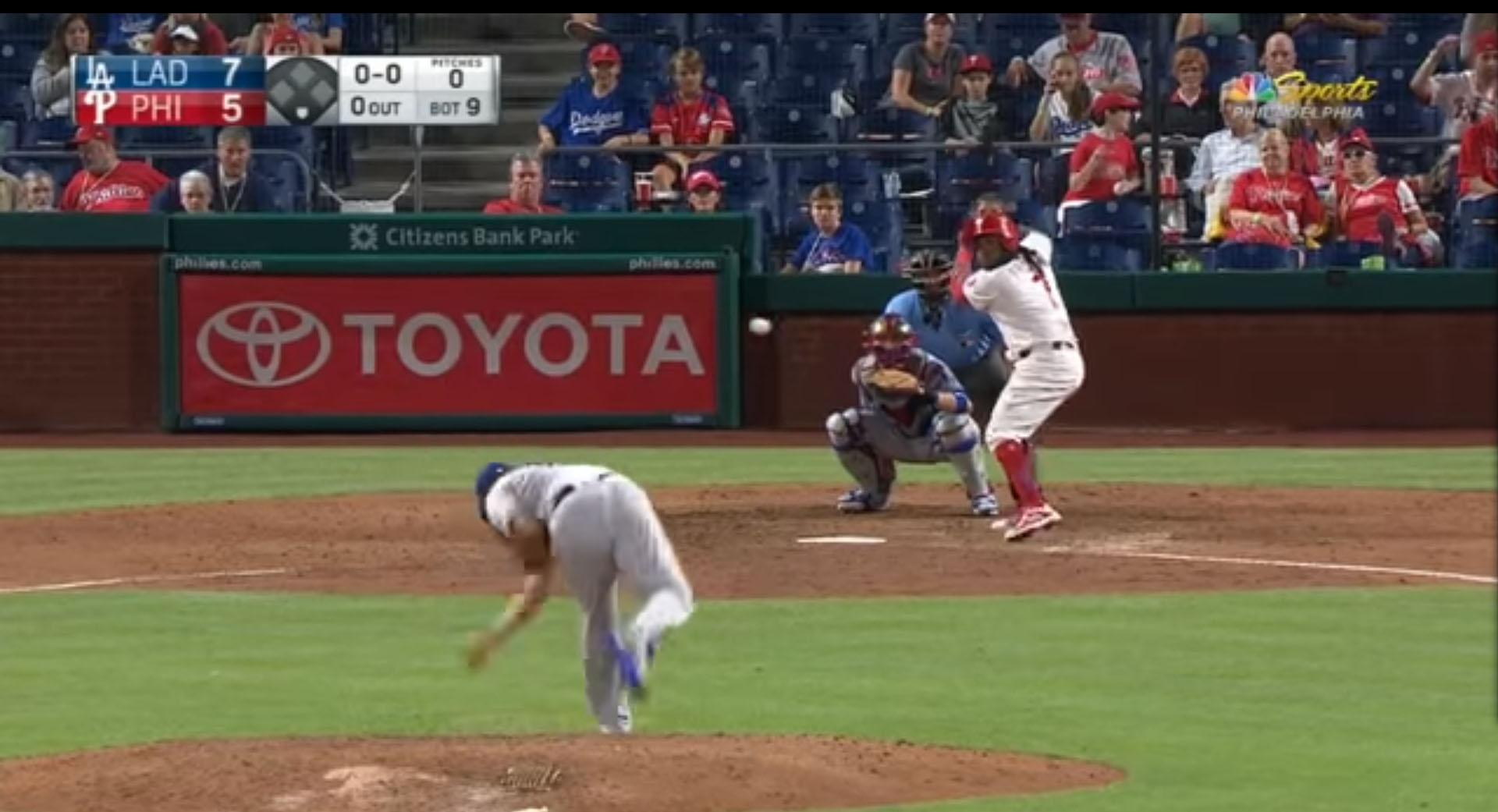 Maikel Franco had smashed a pitch into the stands at Dodger stadium
