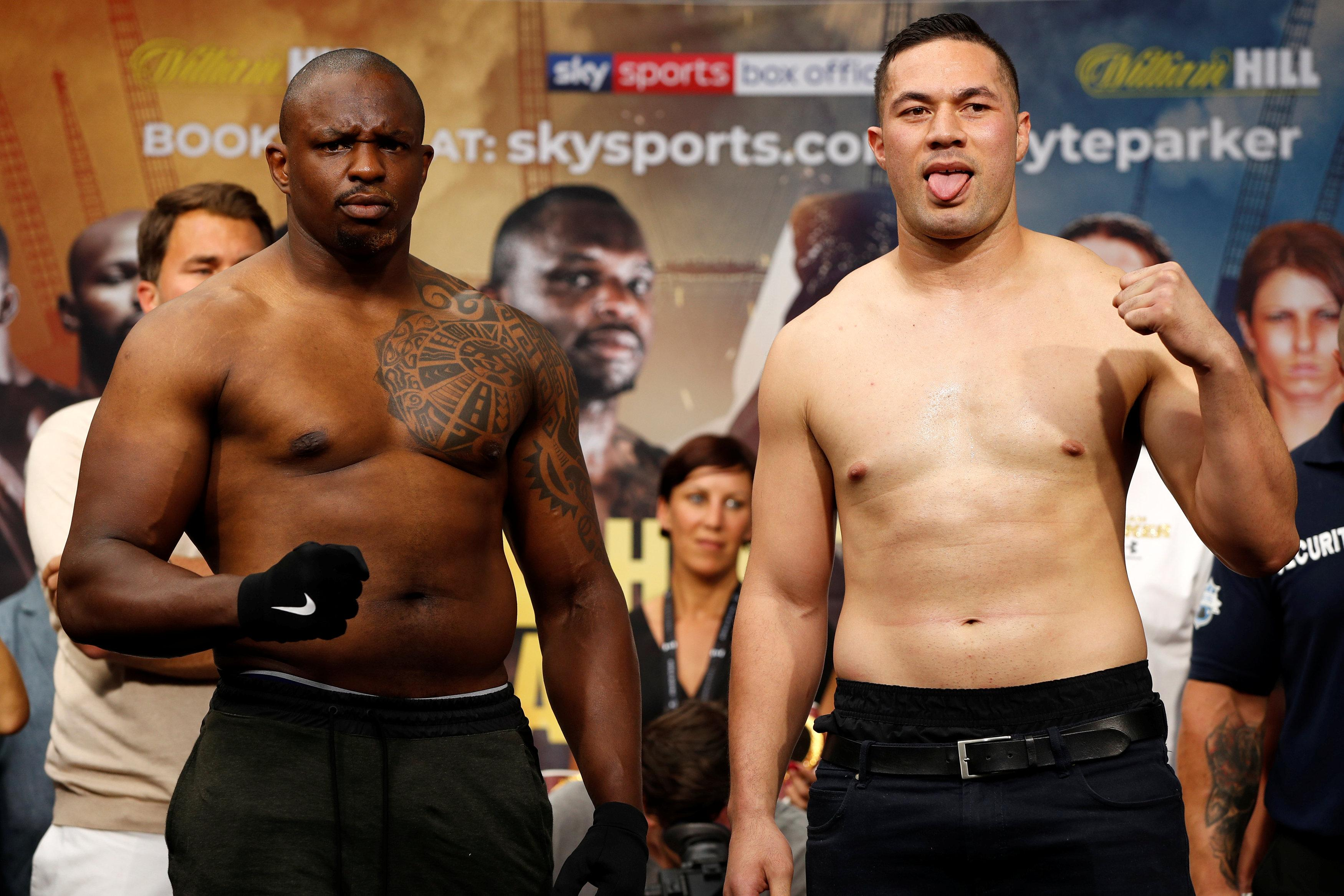 Dillian Whyte faces Joseph Parker in a hotly anticipated heavyweight clash