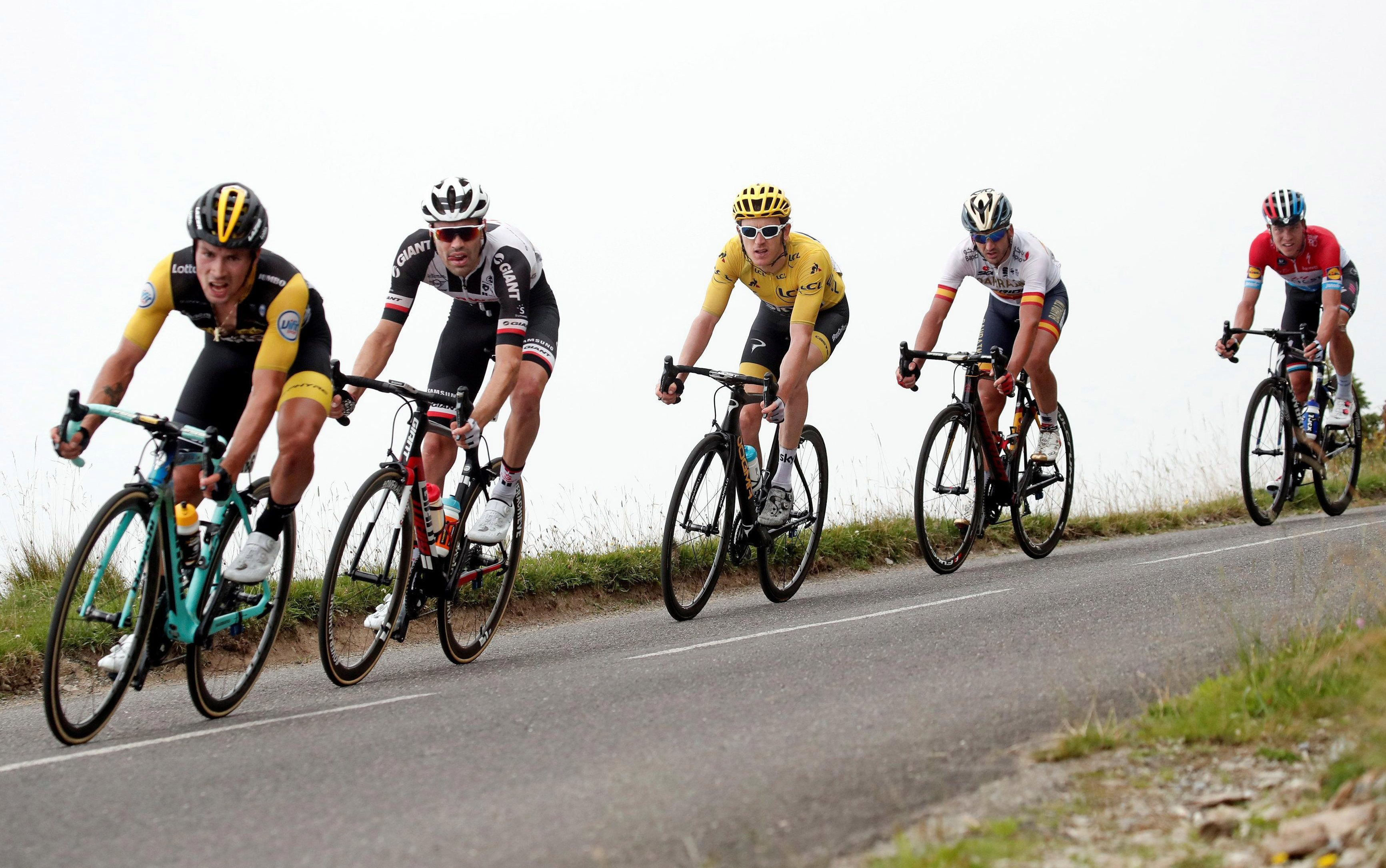 Welsh hero Geraint Thomas, front, is approaching the final hurdle as he bids for his first Tour de France crown