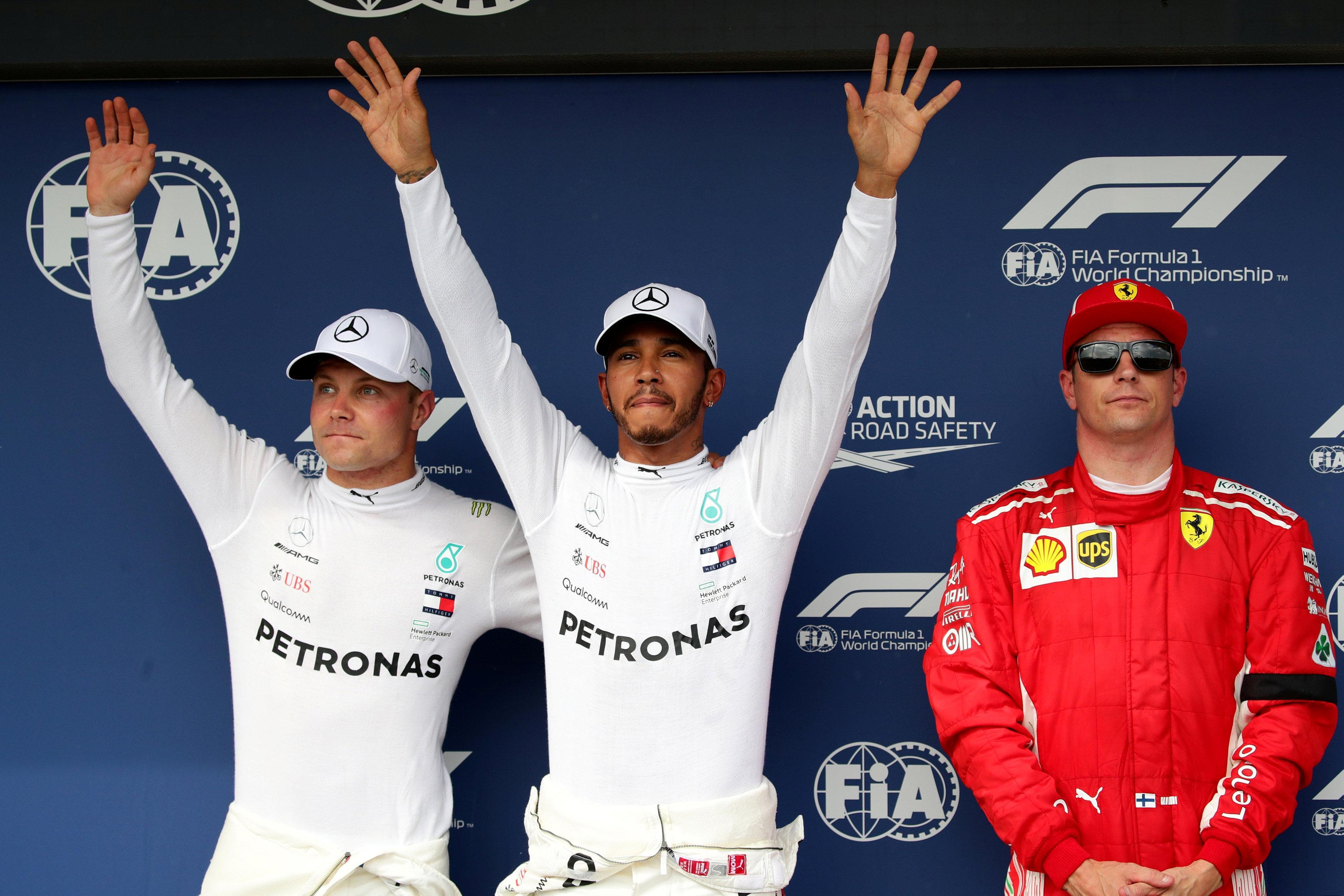 Hamilton will start ahead of team-mate Bottas and Ferrari's Raikkonen