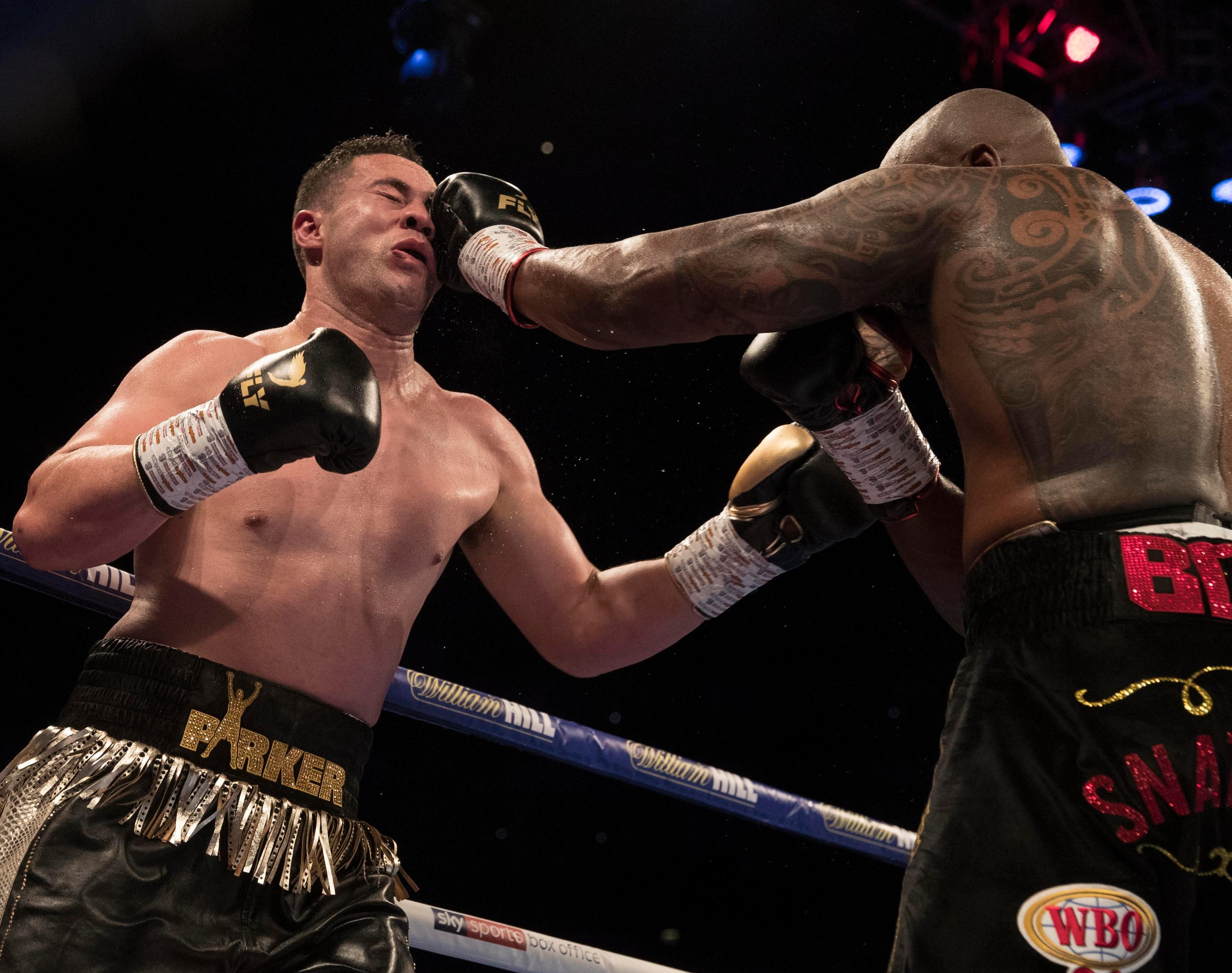 Dillian Whyte dominated the punches in the ring before Parker's late onslaught