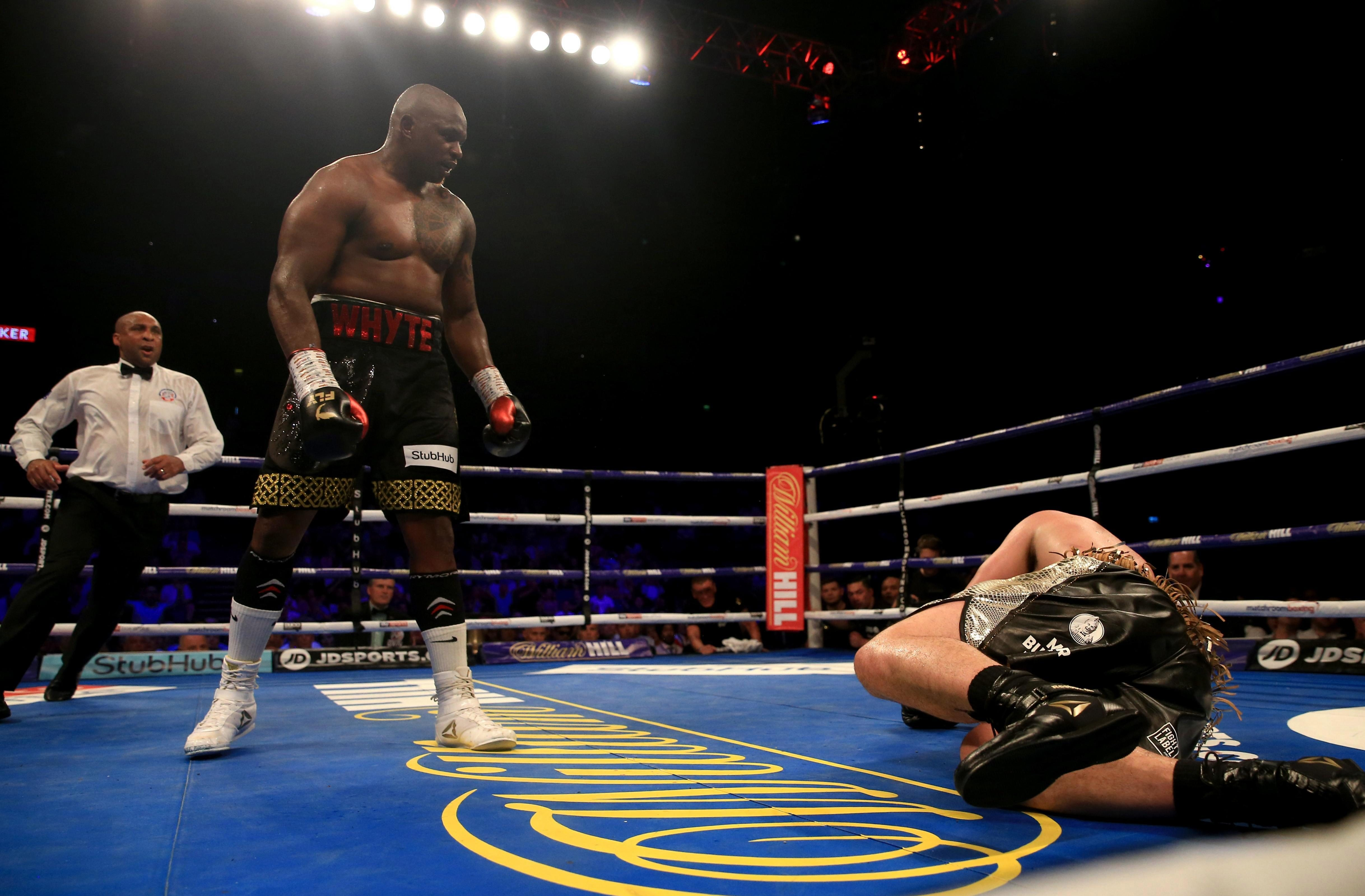 Dillian Whyte dominated for the majority of the fight