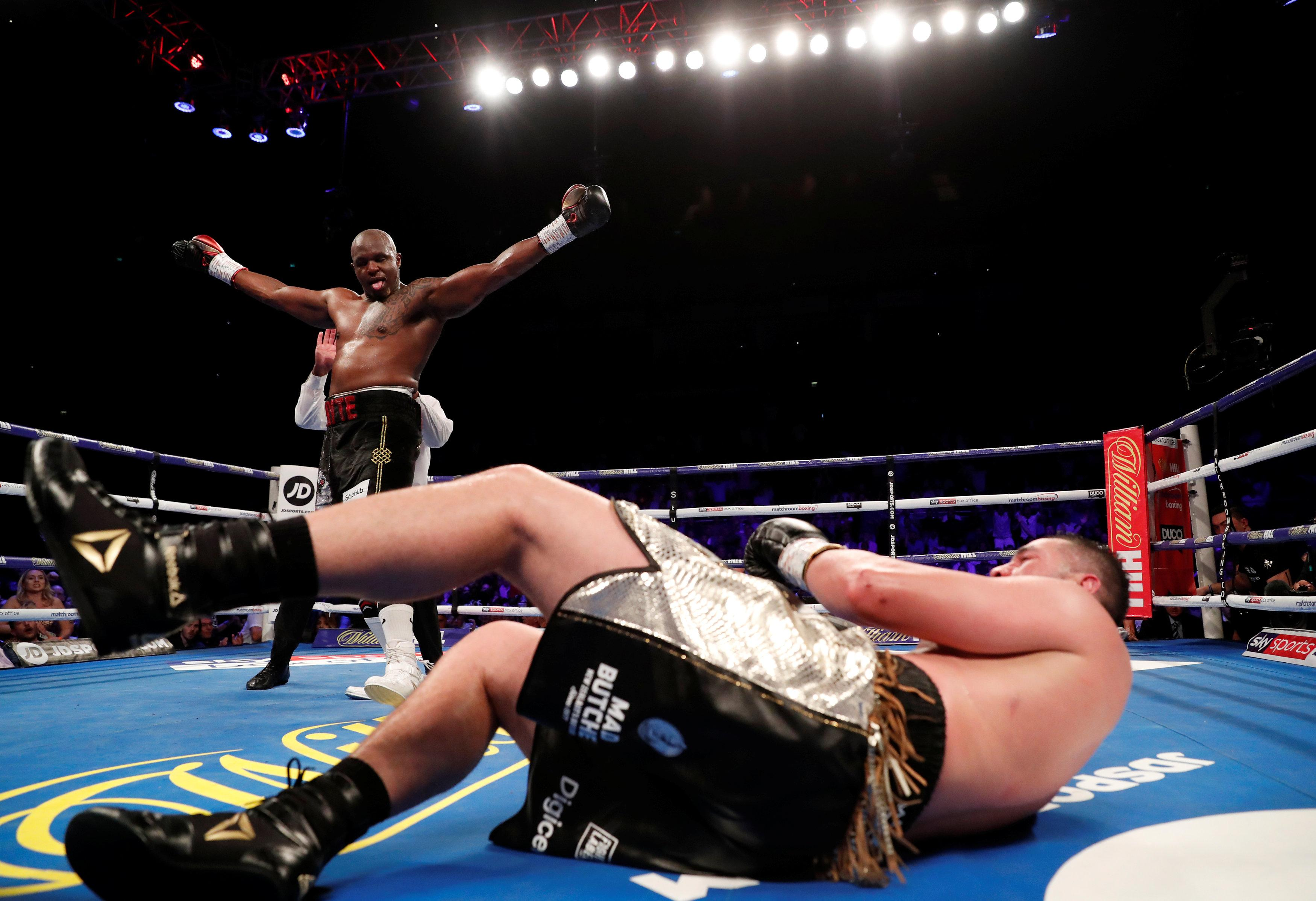 Joseph Parker was floored for the first time in his career