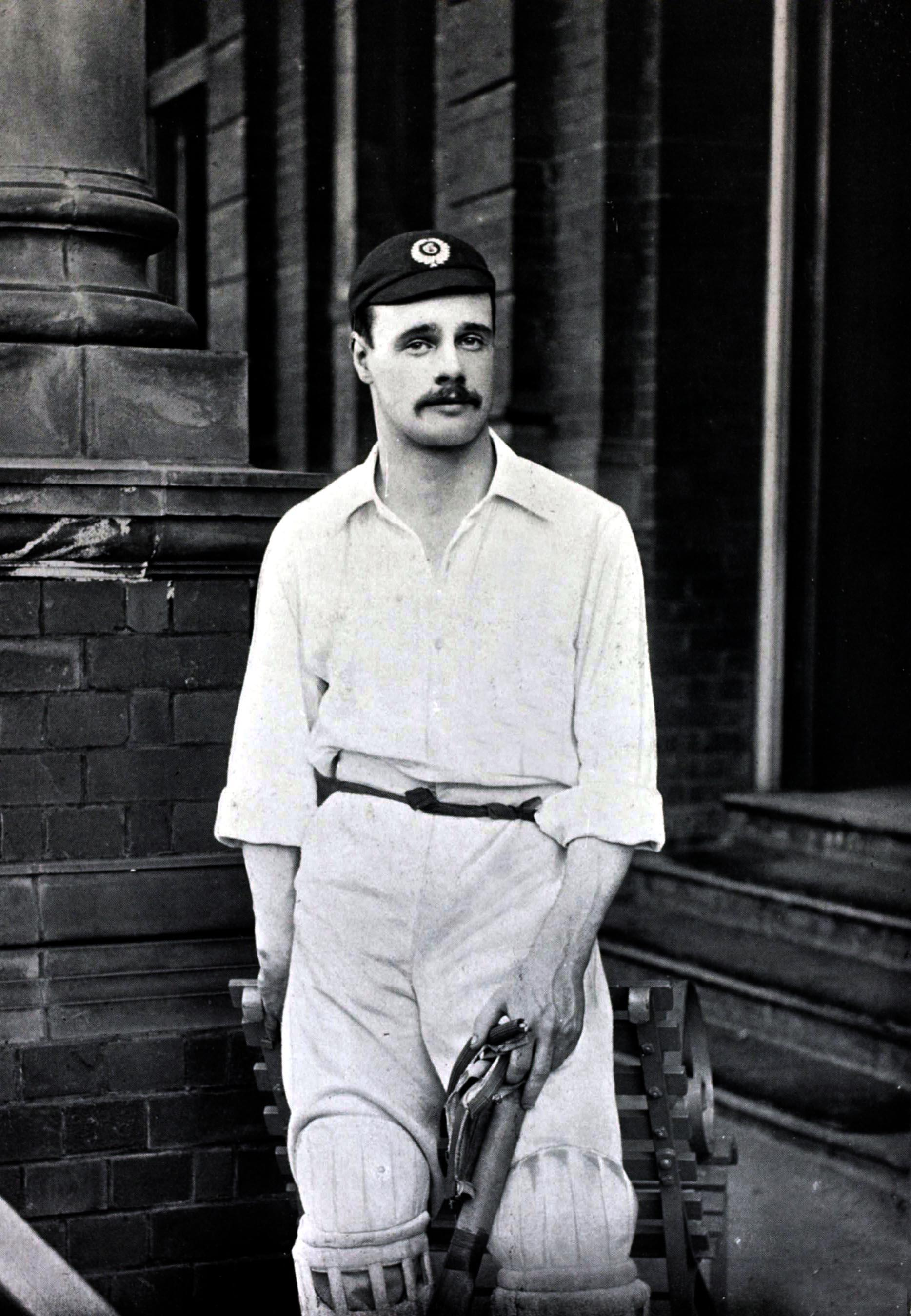 Gilbert Jessop hit 100 with the bat from 76 balls to help England defeat rivals Australia