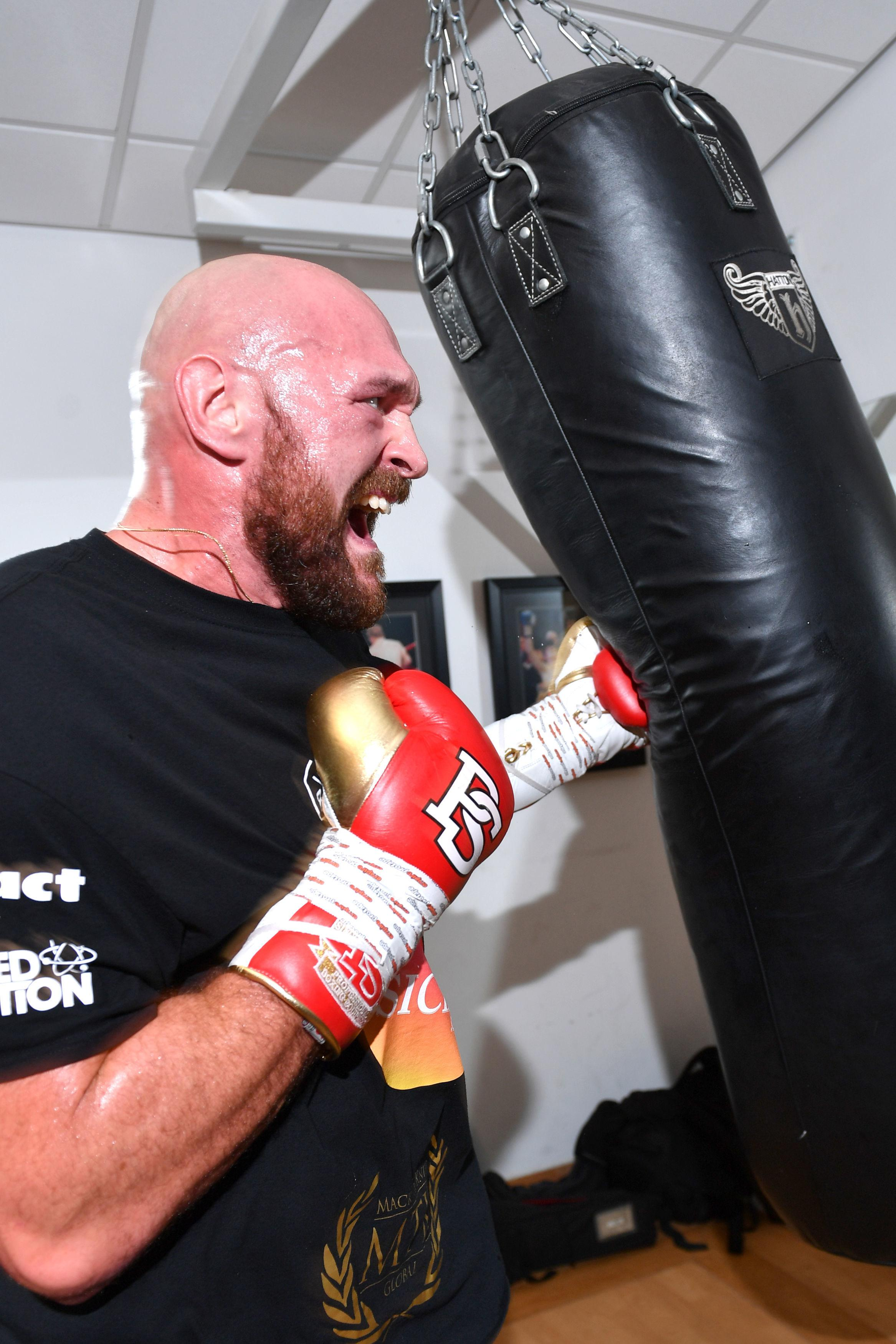Fury claims he is preparing to face Deontay Wolder in a world title bout in December