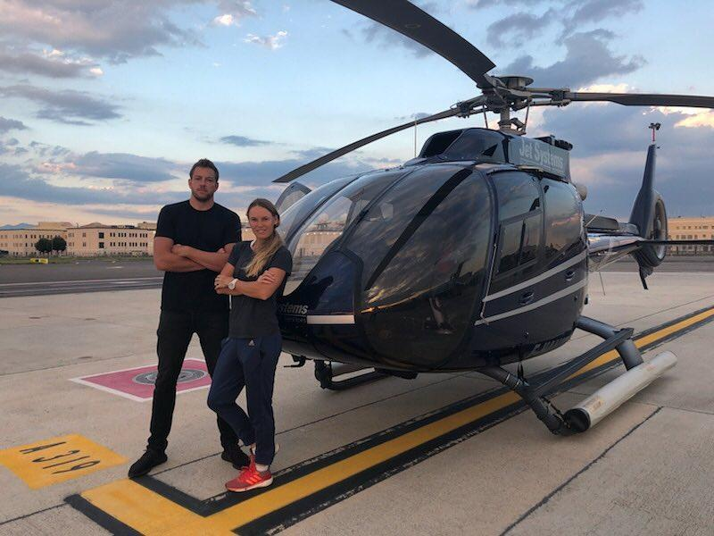 With Wozniacki and Lee enjoying wealthy careers in sport, the engaged couple are often jetting on holiday or seeing the sights from the sky