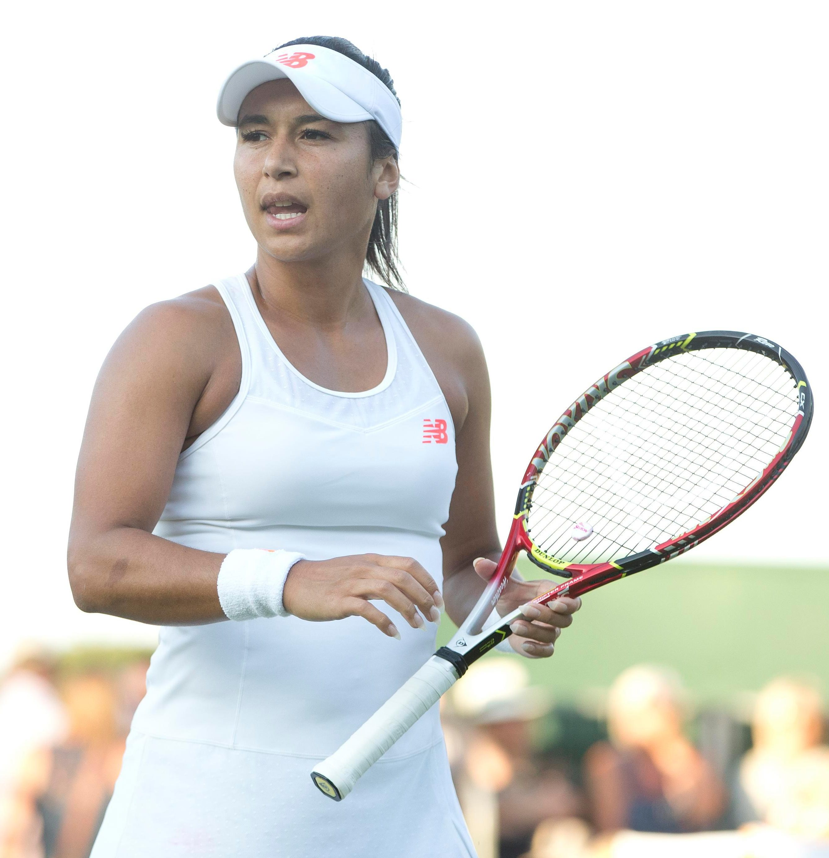 Heather Watson branded the linesman a 'pathetic snitch' for getting her point docked