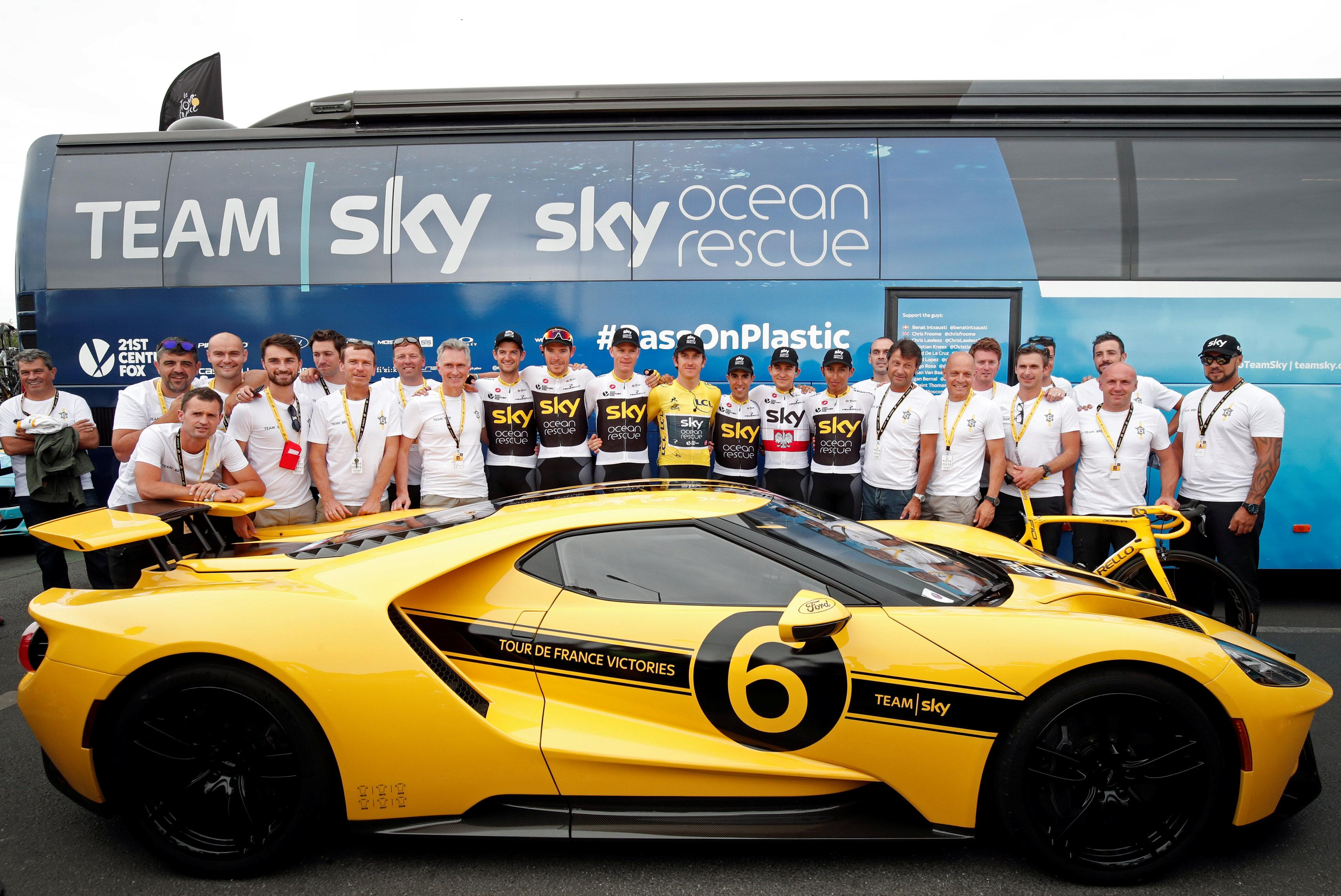 Team Sky got a custom-made Ford GT with the number 6 on the side to commemorate their dominance of the race