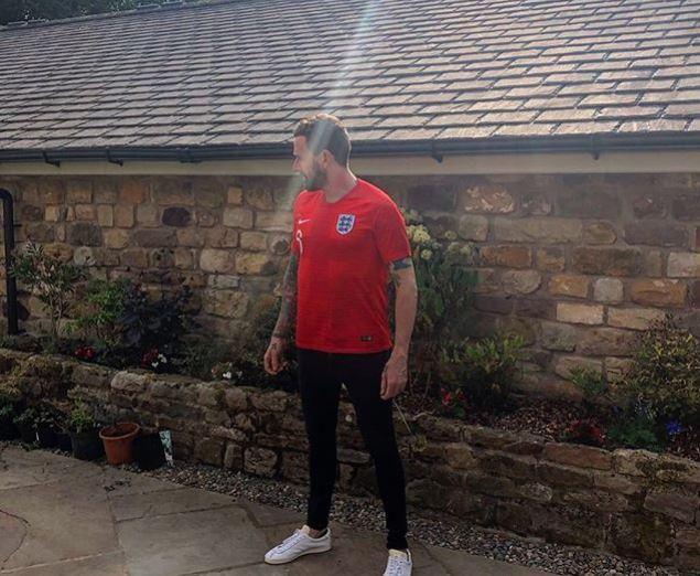 Wiggins got into the patriotic mood for England's march to the World Cup semi-finals last month
